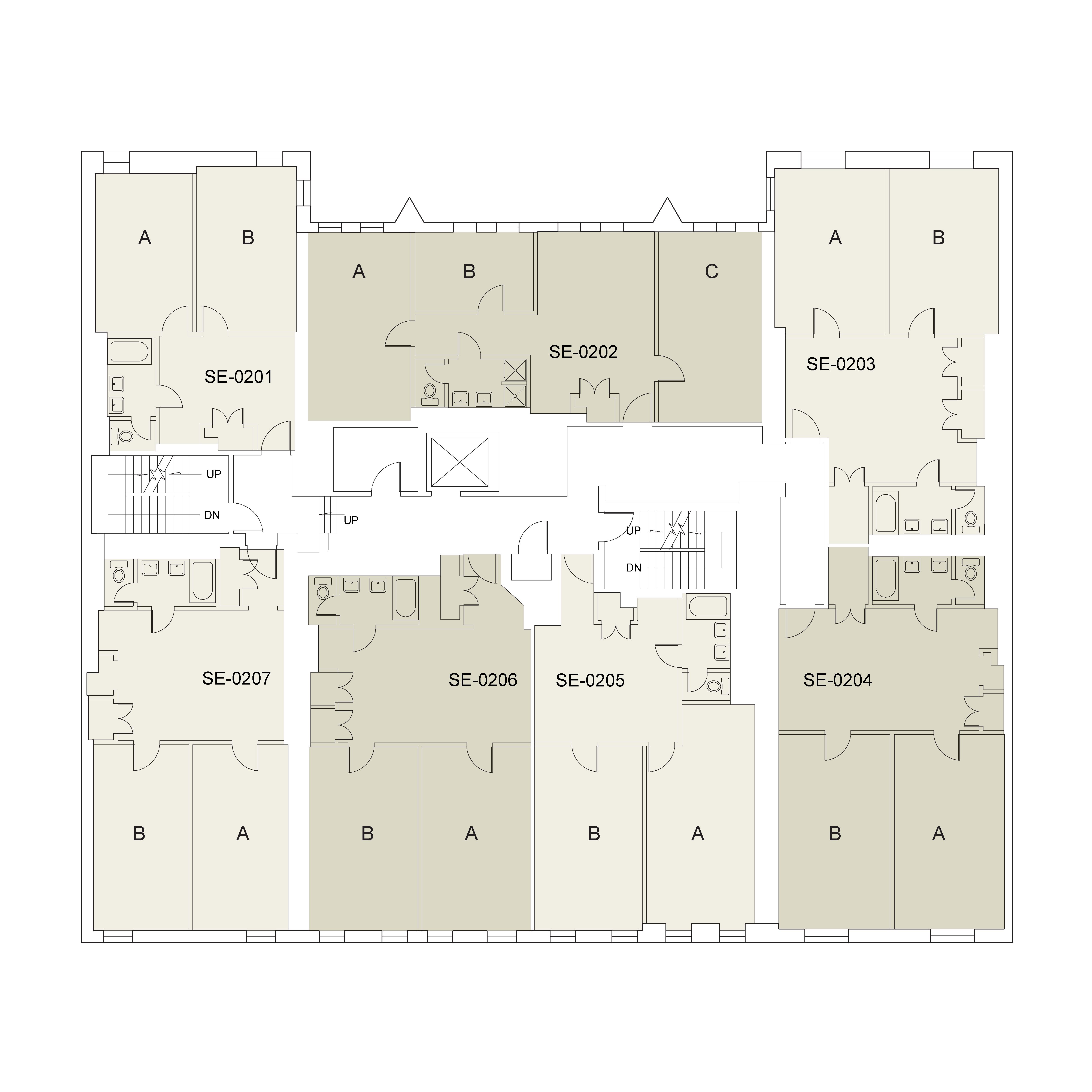 Floor plan for 7th St. Floor 02