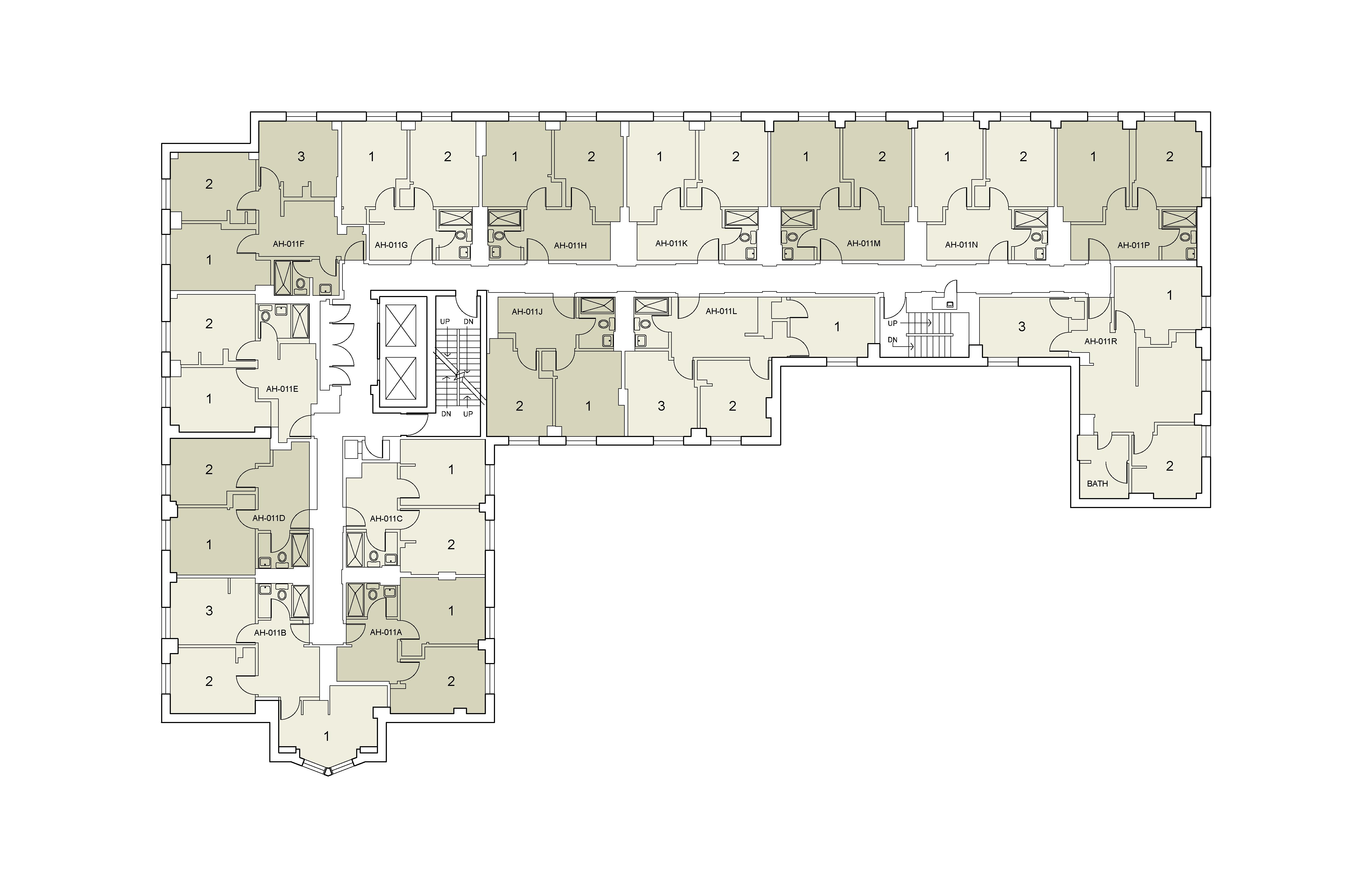 Floor plan for Alumni Floor 11