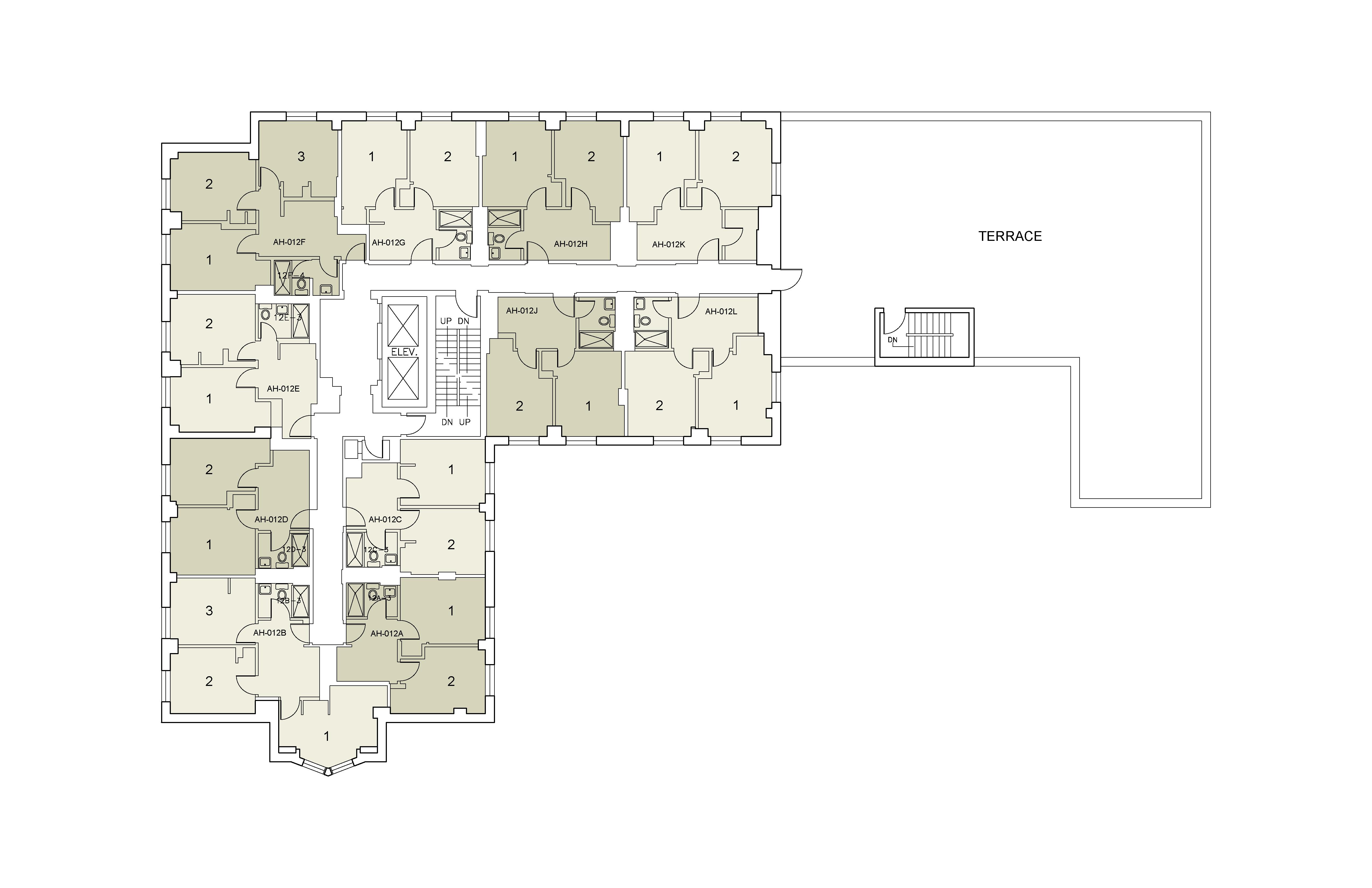 Floor plan for Alumni Floor 12