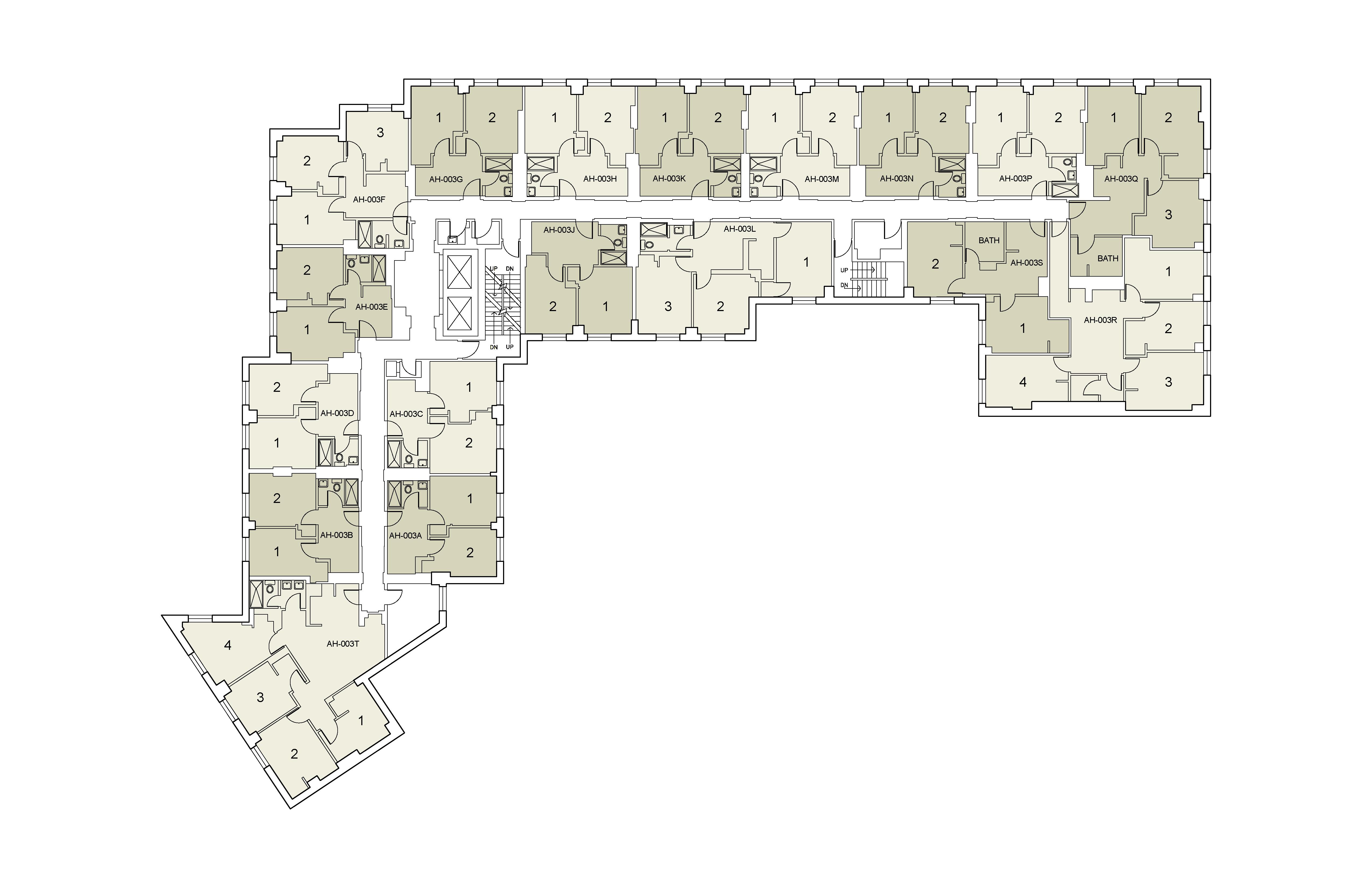 Floor plan for Alumni Floor 03
