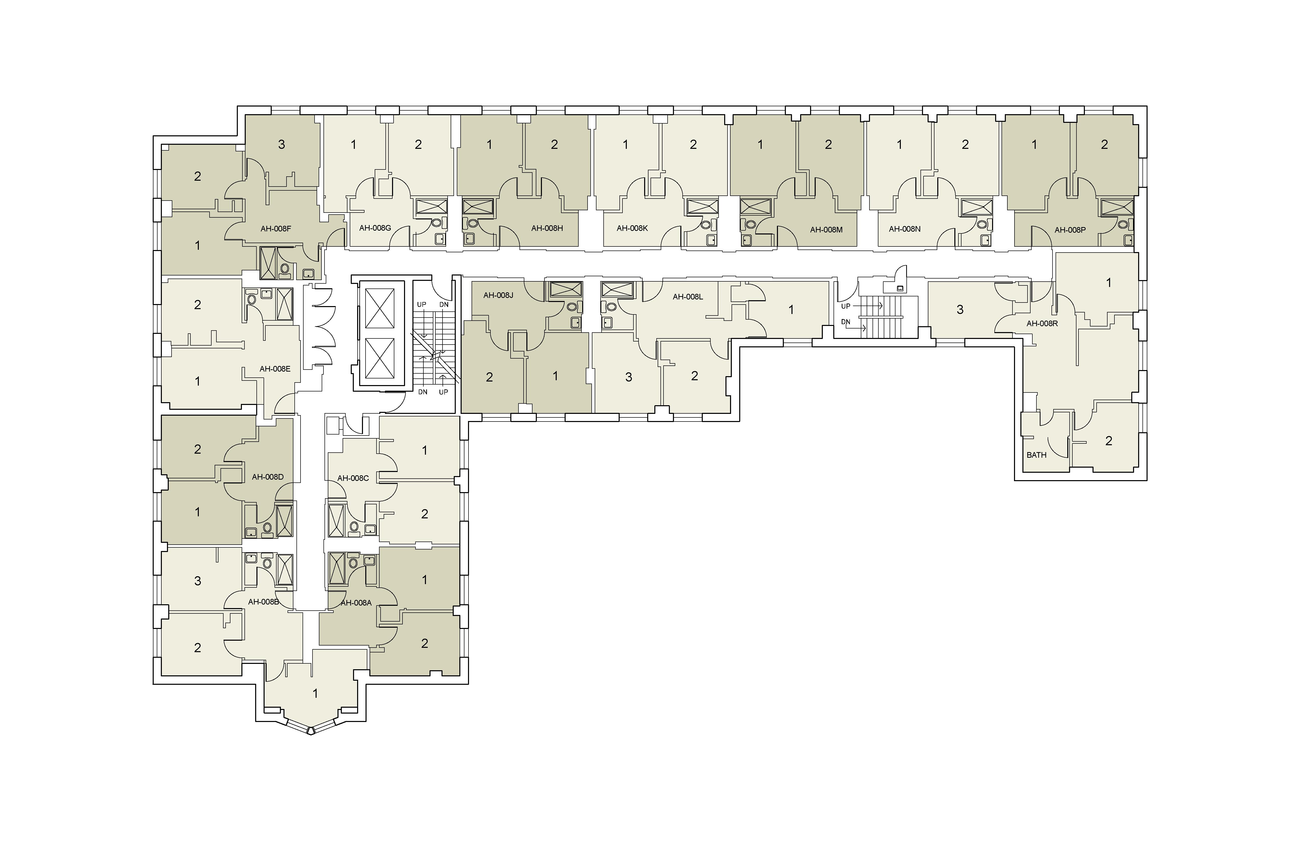 Floor plan for Alumni Floor 08