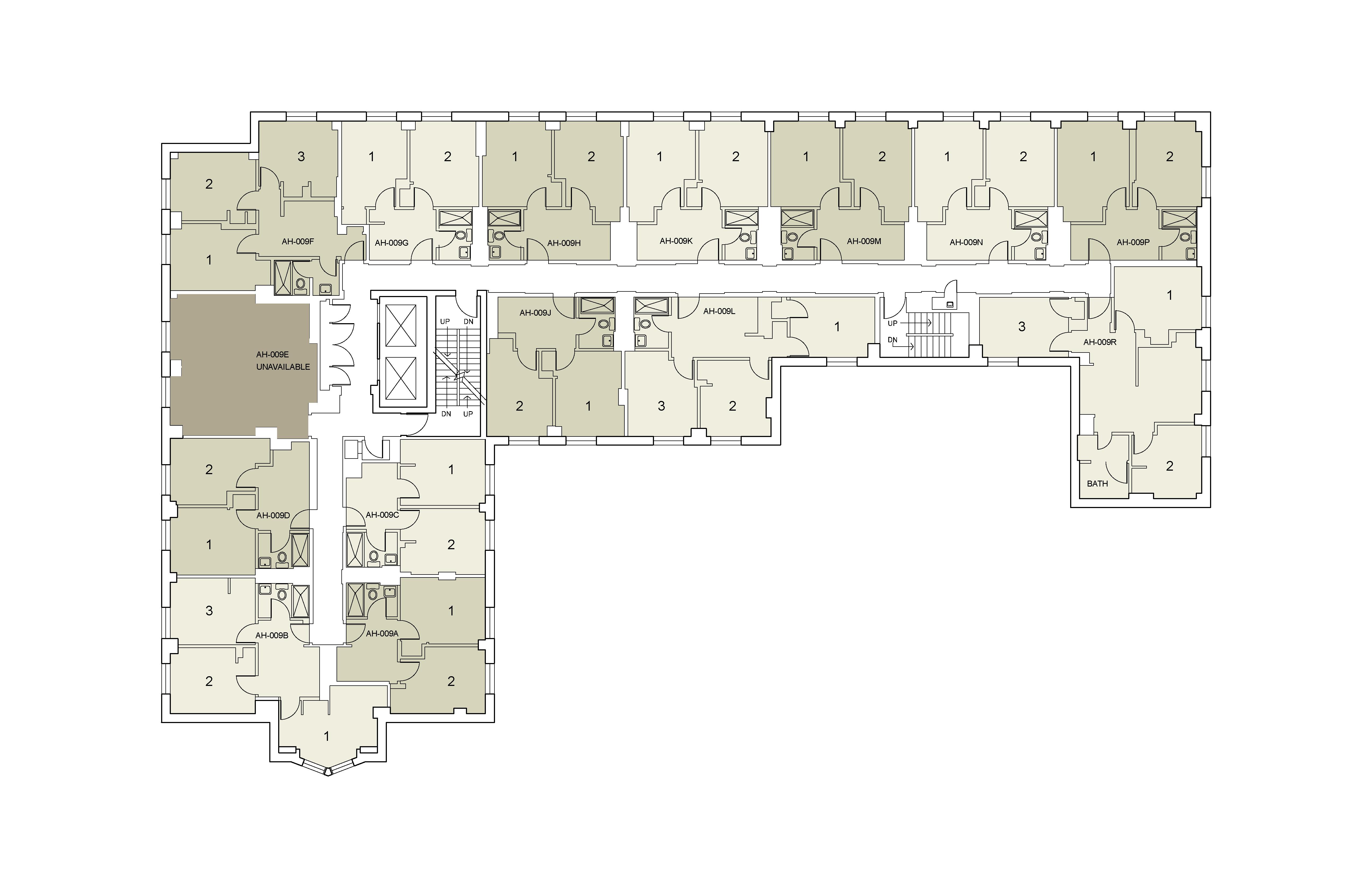 Floor plan for Alumni Floor 09