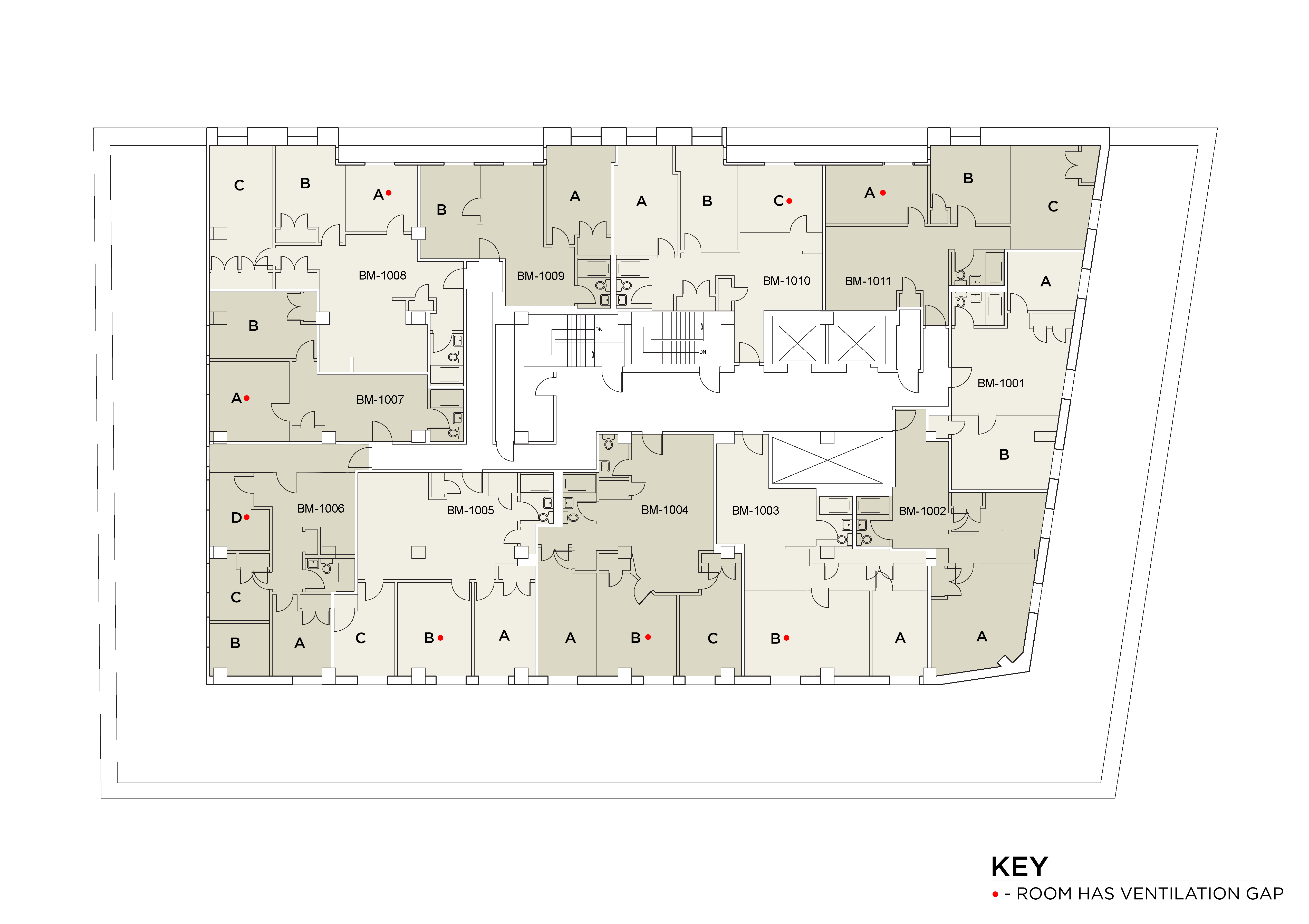 Floor plan for 400Broome Floor 10