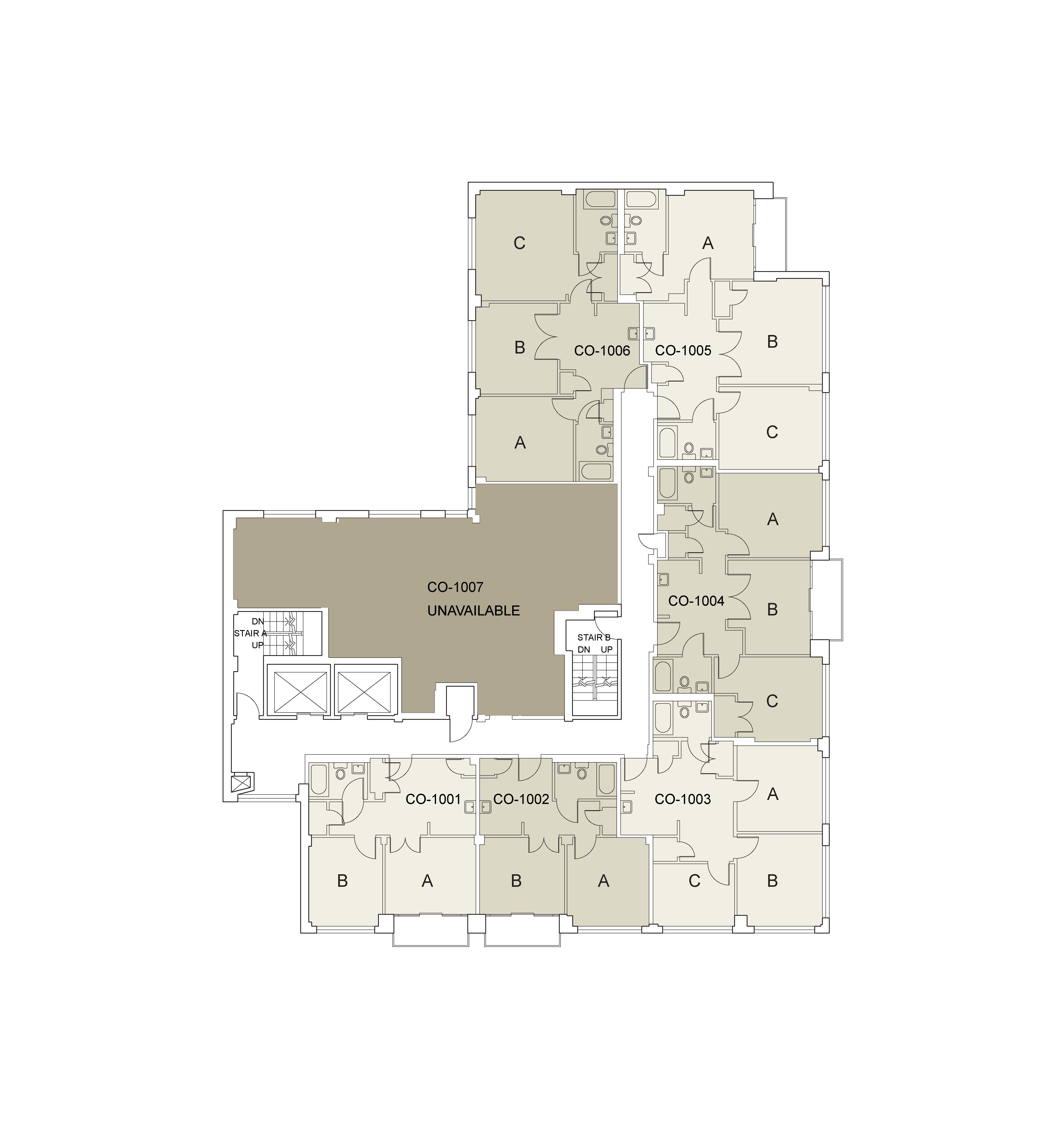 Floor plan for Coral Floor 10