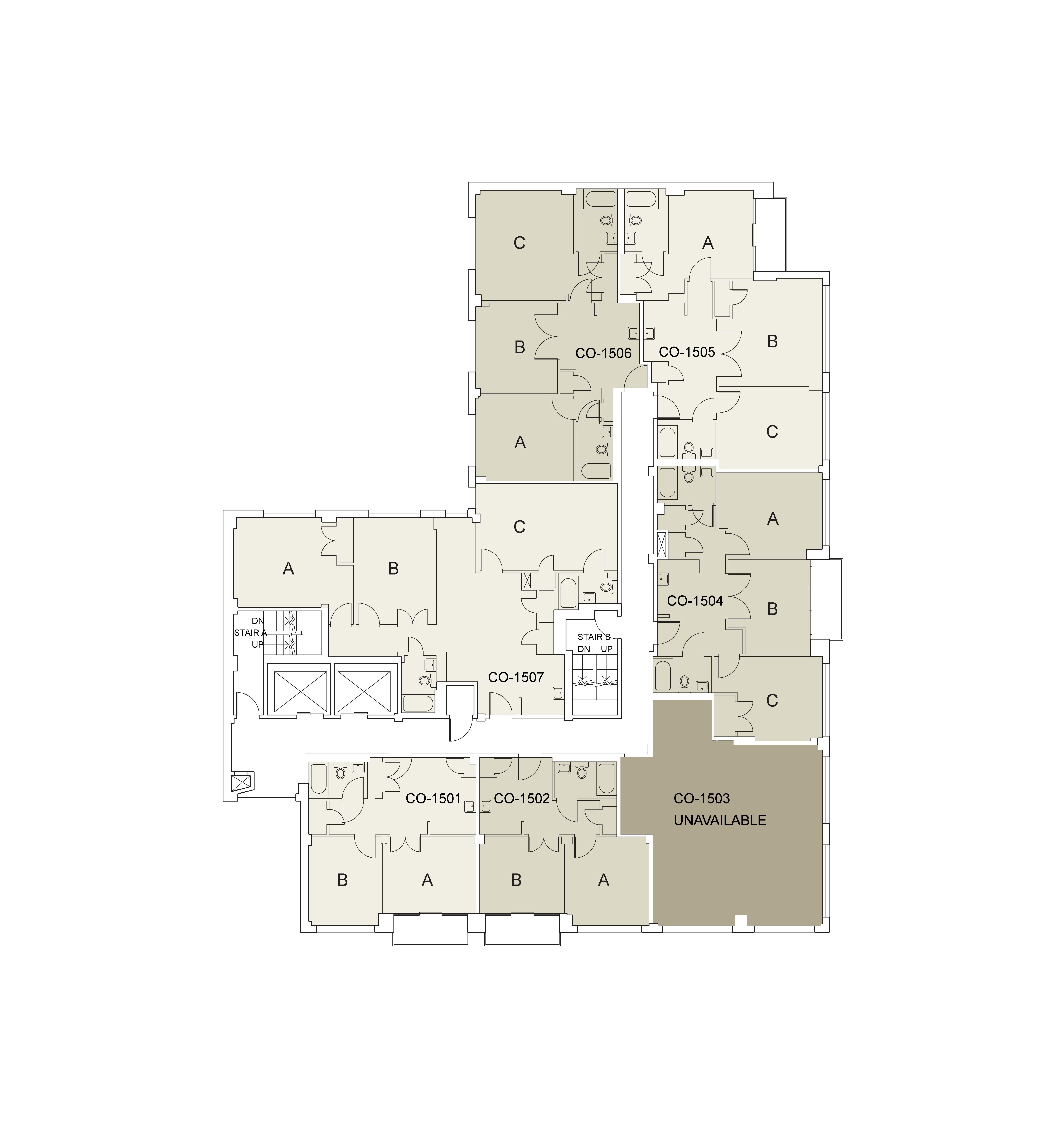 Floor plan for Coral Floor 15