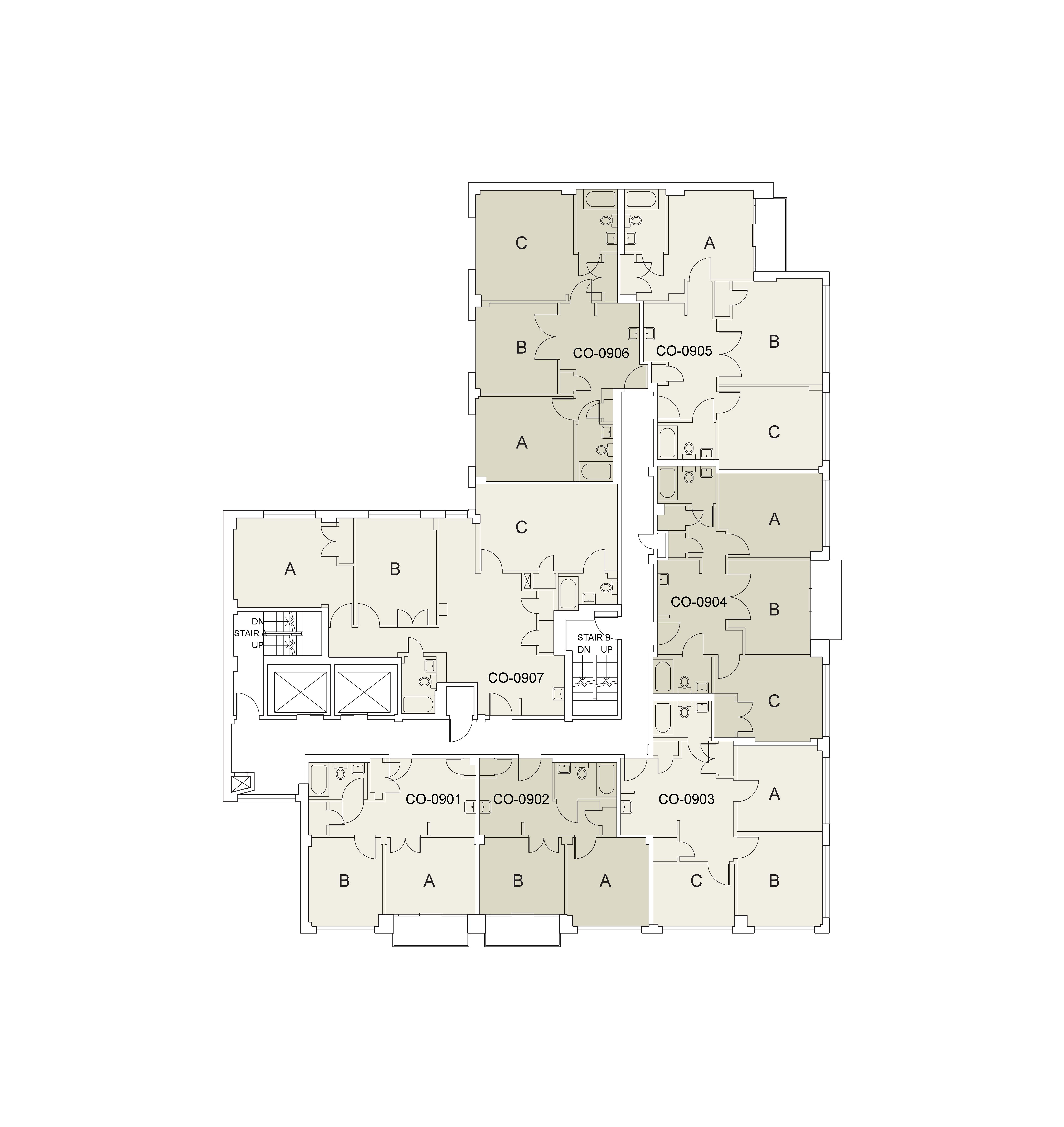Floor plan for Coral Floor 09