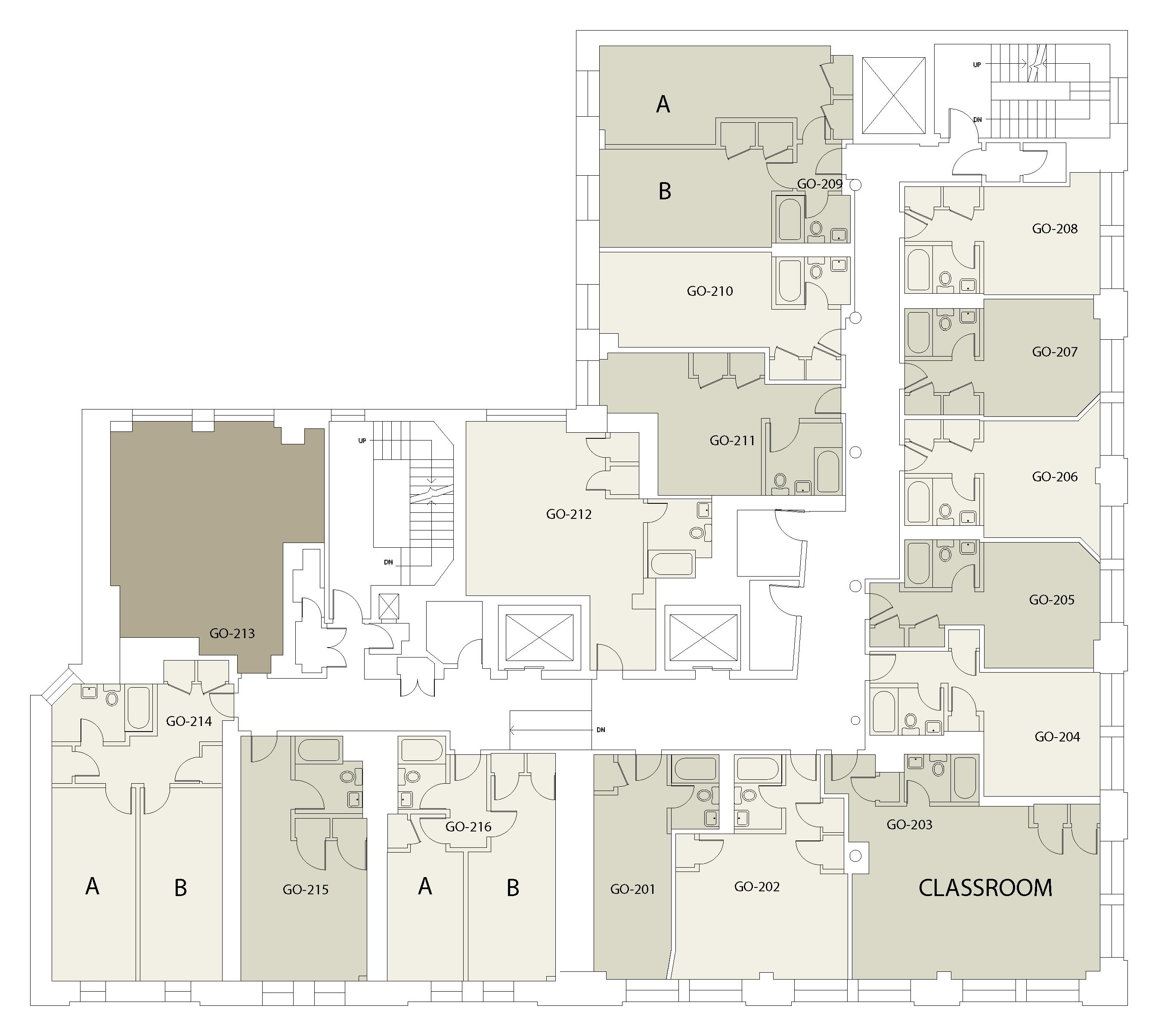Floor plan for Goddard Floor 02