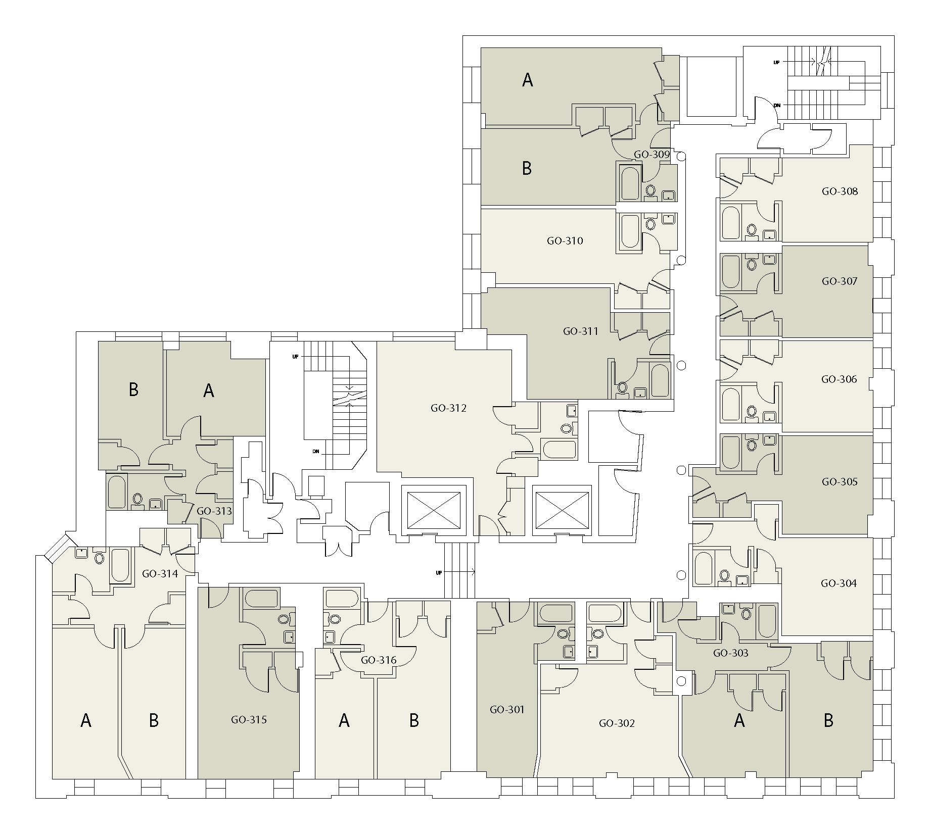 Floor plan for Goddard Floor 03