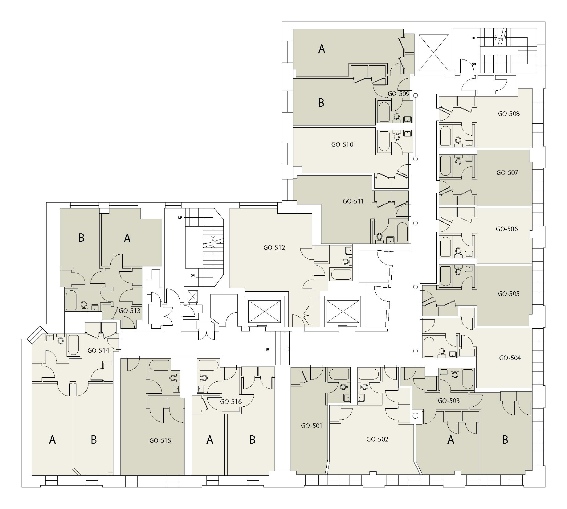 Floor plan for Goddard Floor 05