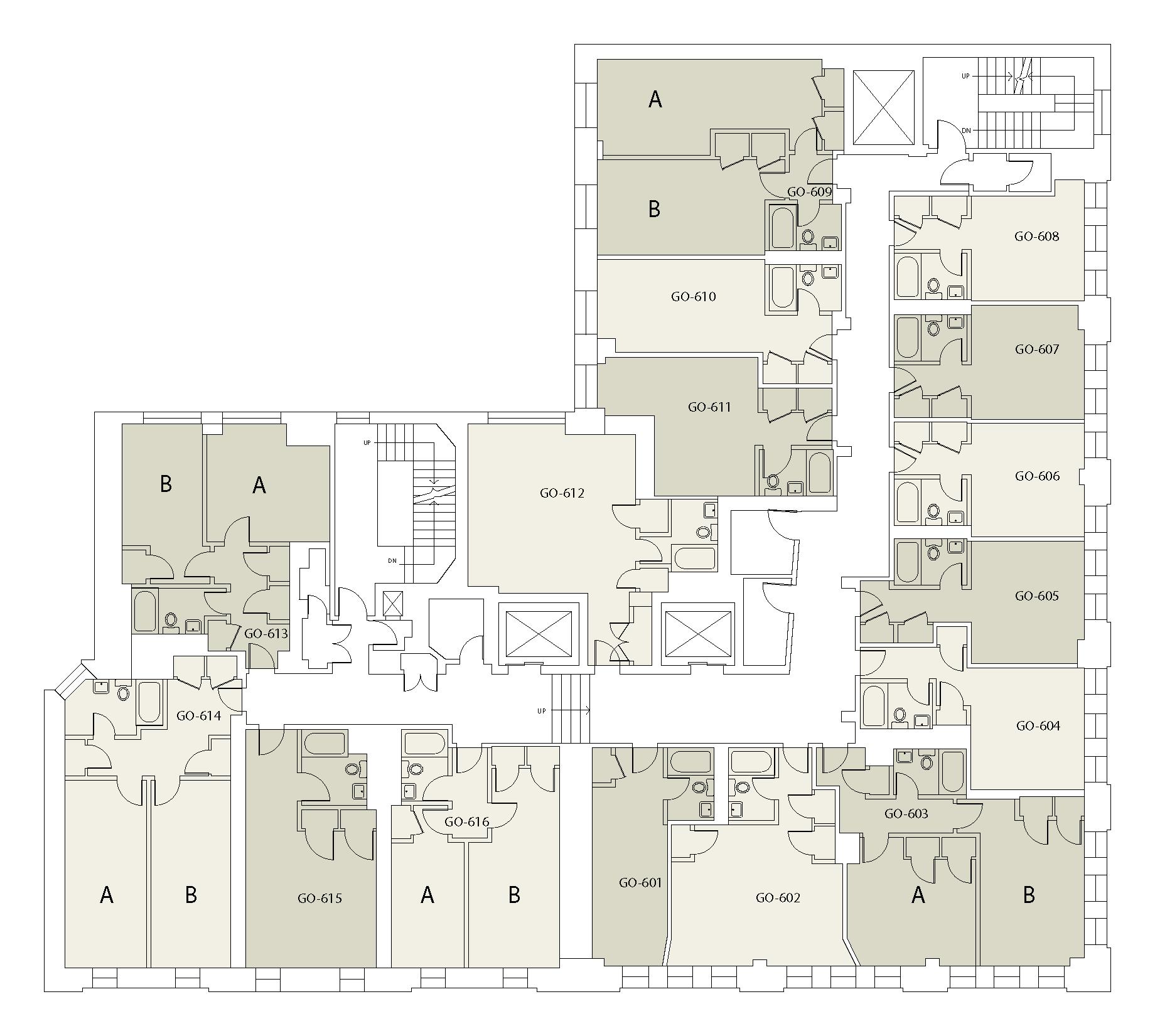 Floor plan for Goddard Floor 06