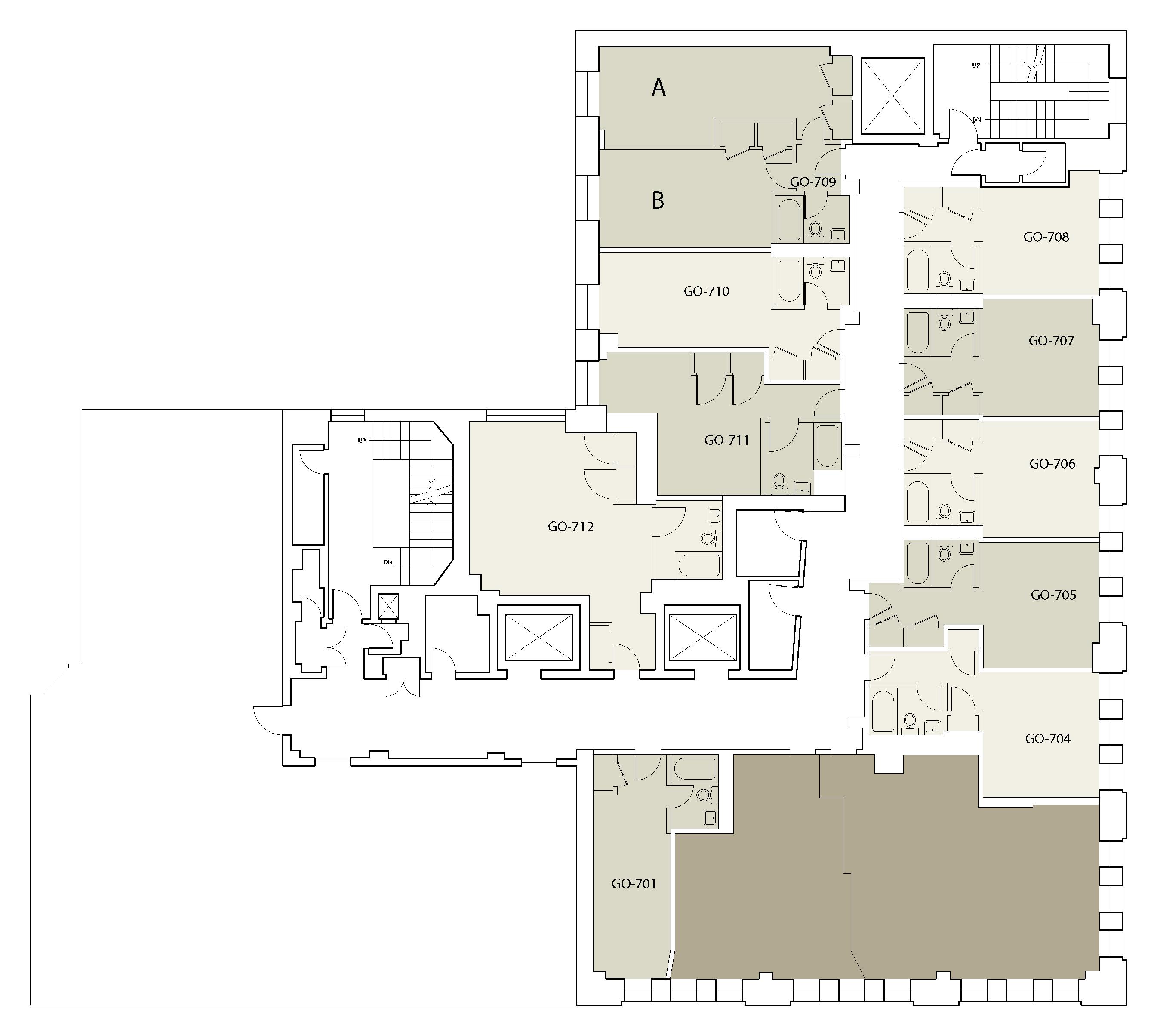 Floor plan for Goddard Floor 07