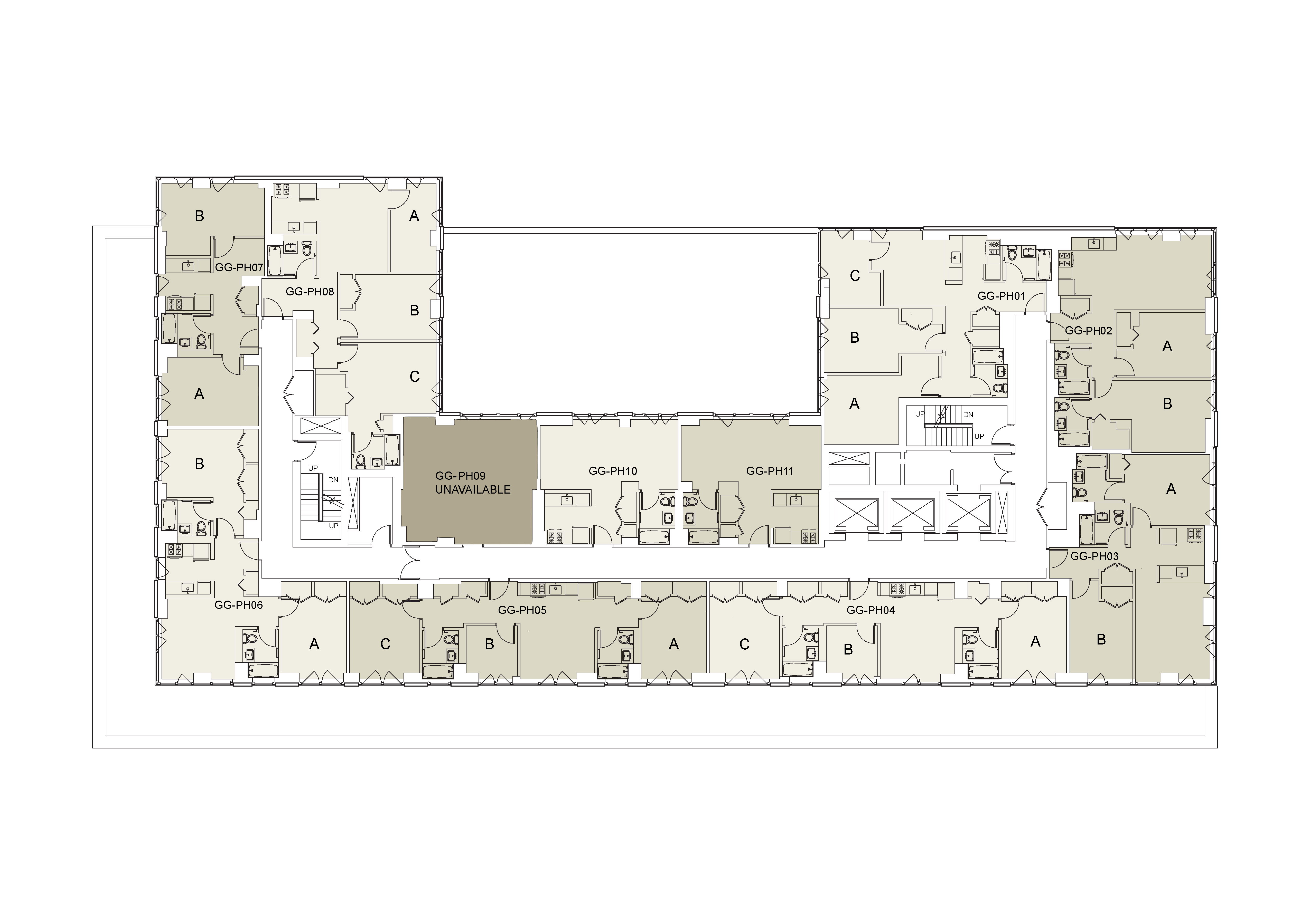 Floor plan for Gramercy Green Penthouse