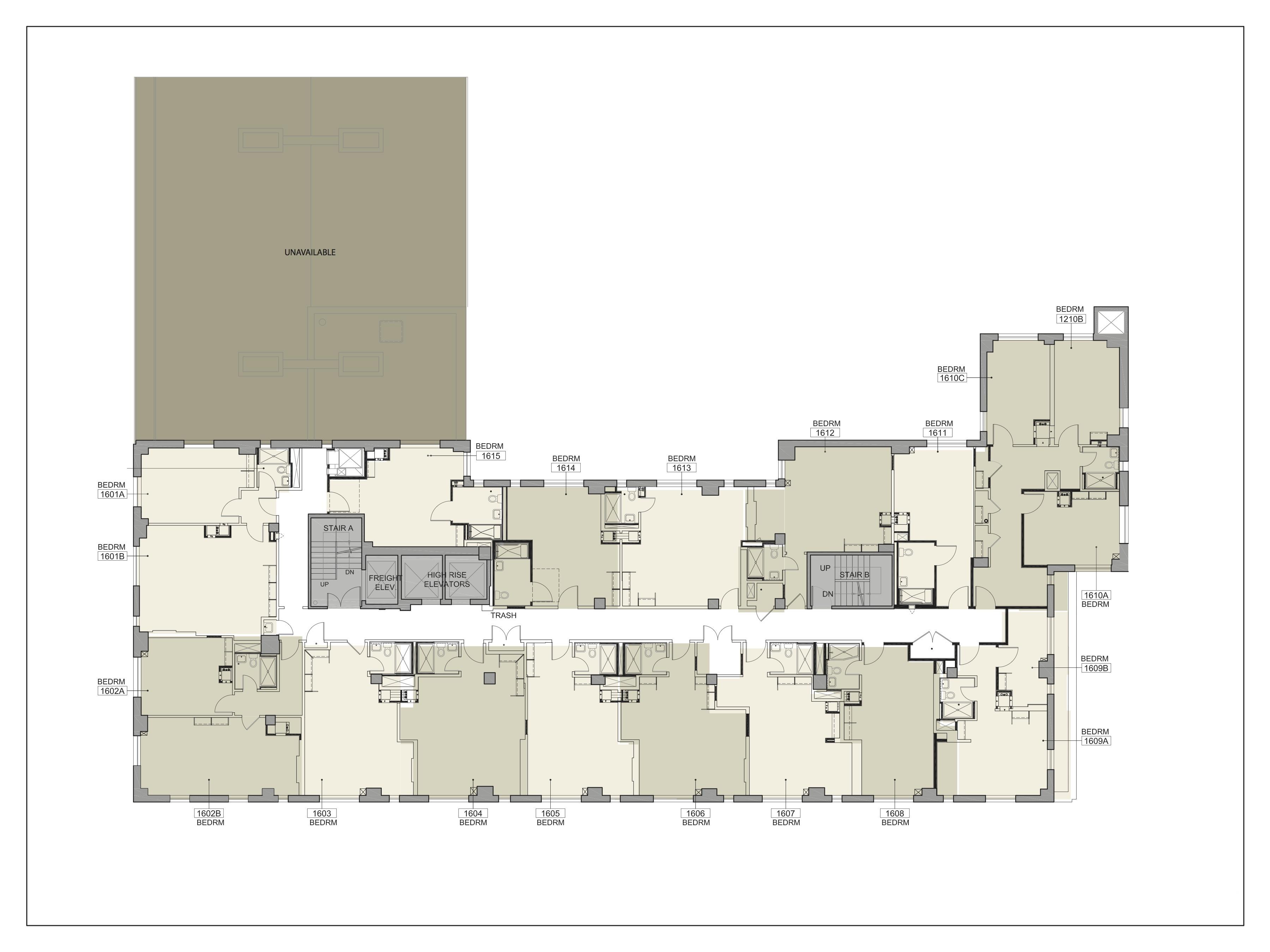 Floor plan for Lipton Floor 16