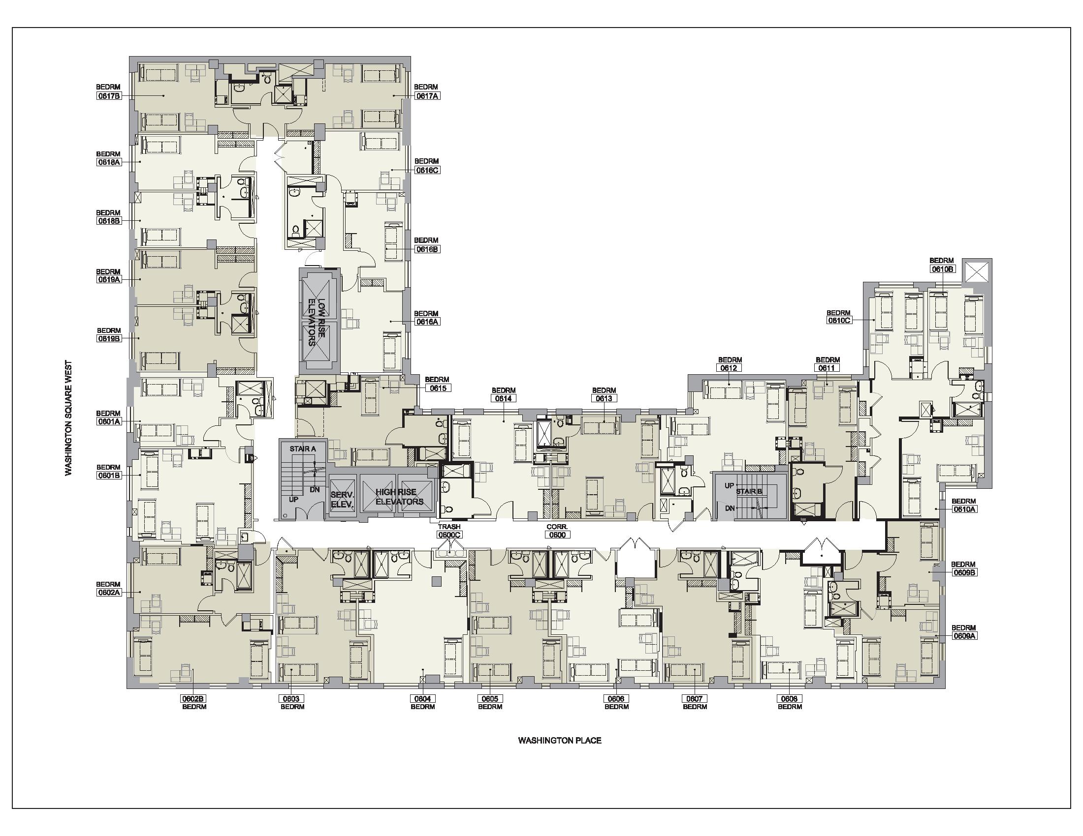Floor plan for Lipton Floor 06