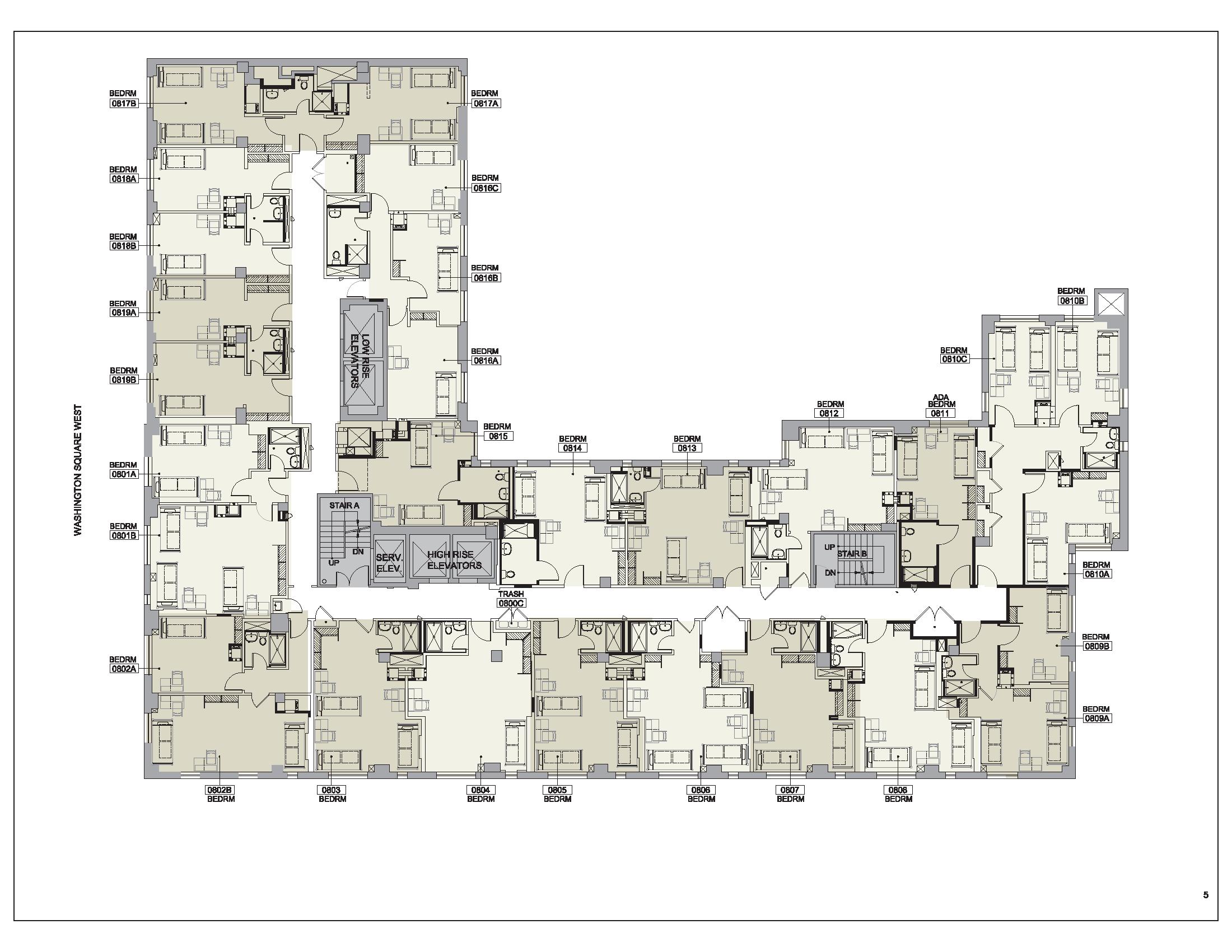 Floor plan for Lipton Floor 08