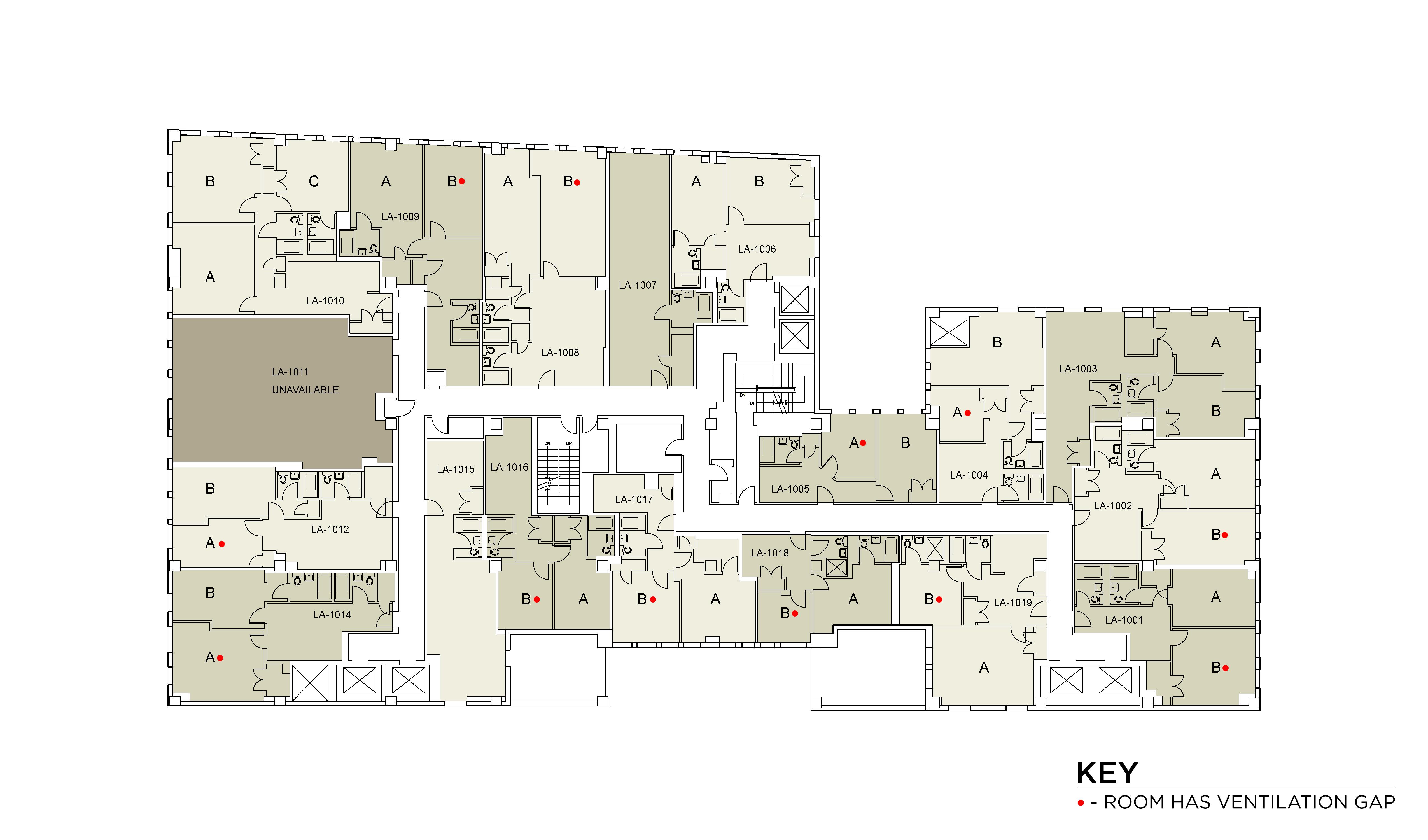 Floor plan for Lafayette Floor 10