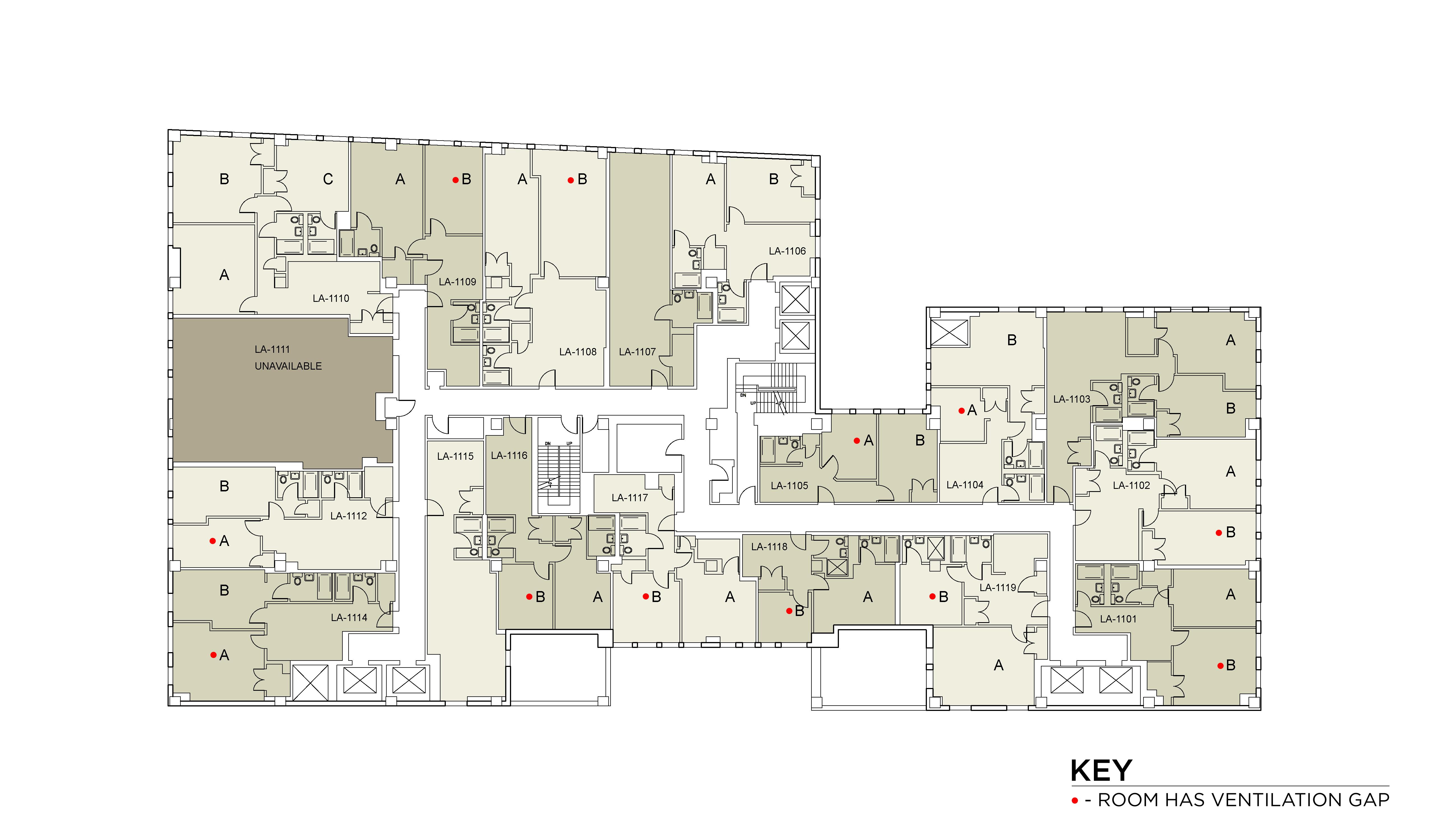 Floor plan for Lafayette Floor 11