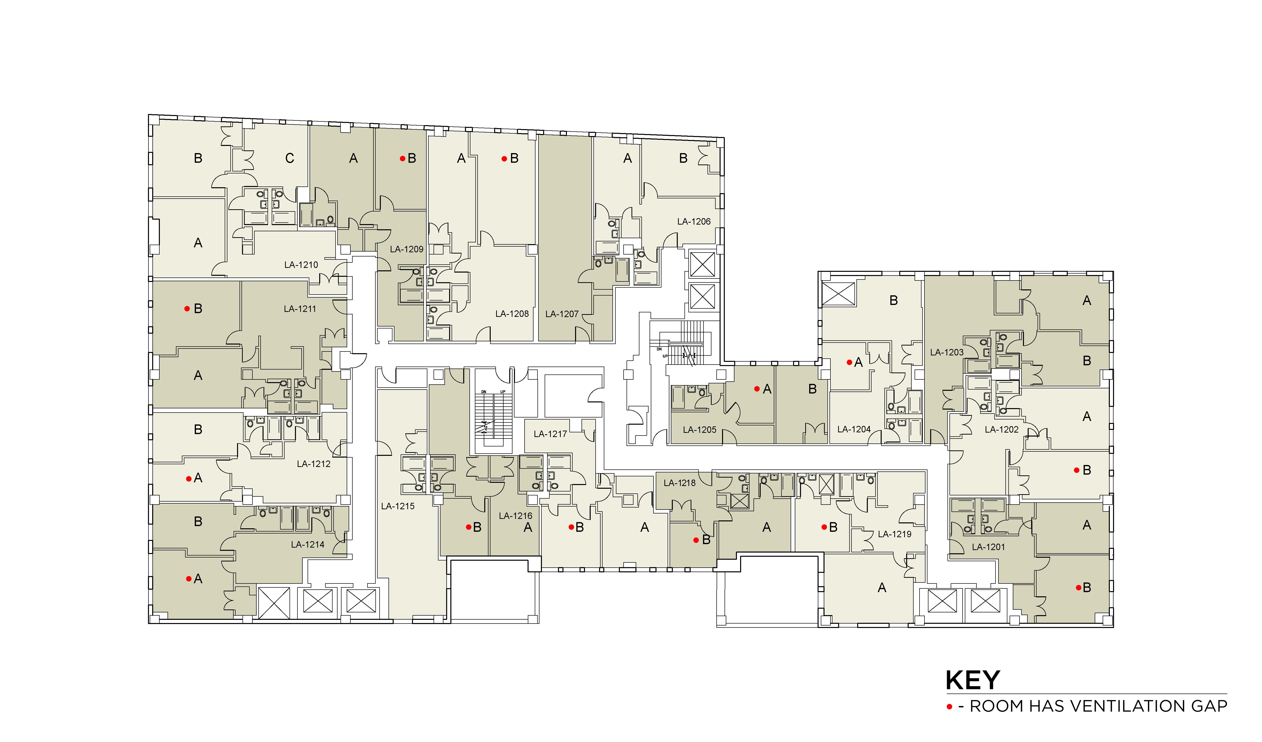 Floor plan for Lafayette Floor 12
