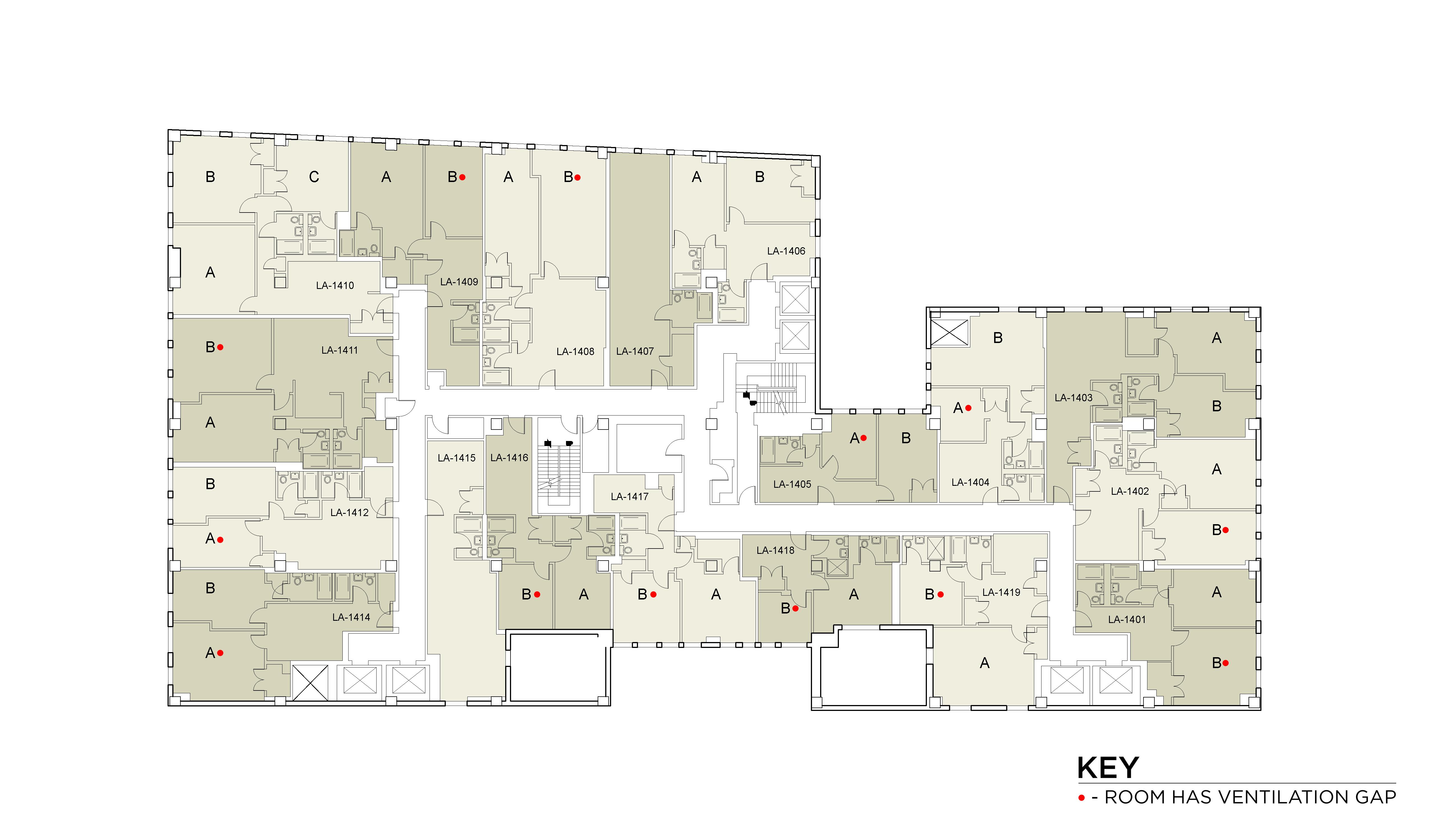Floor plan for Lafayette Floor 14