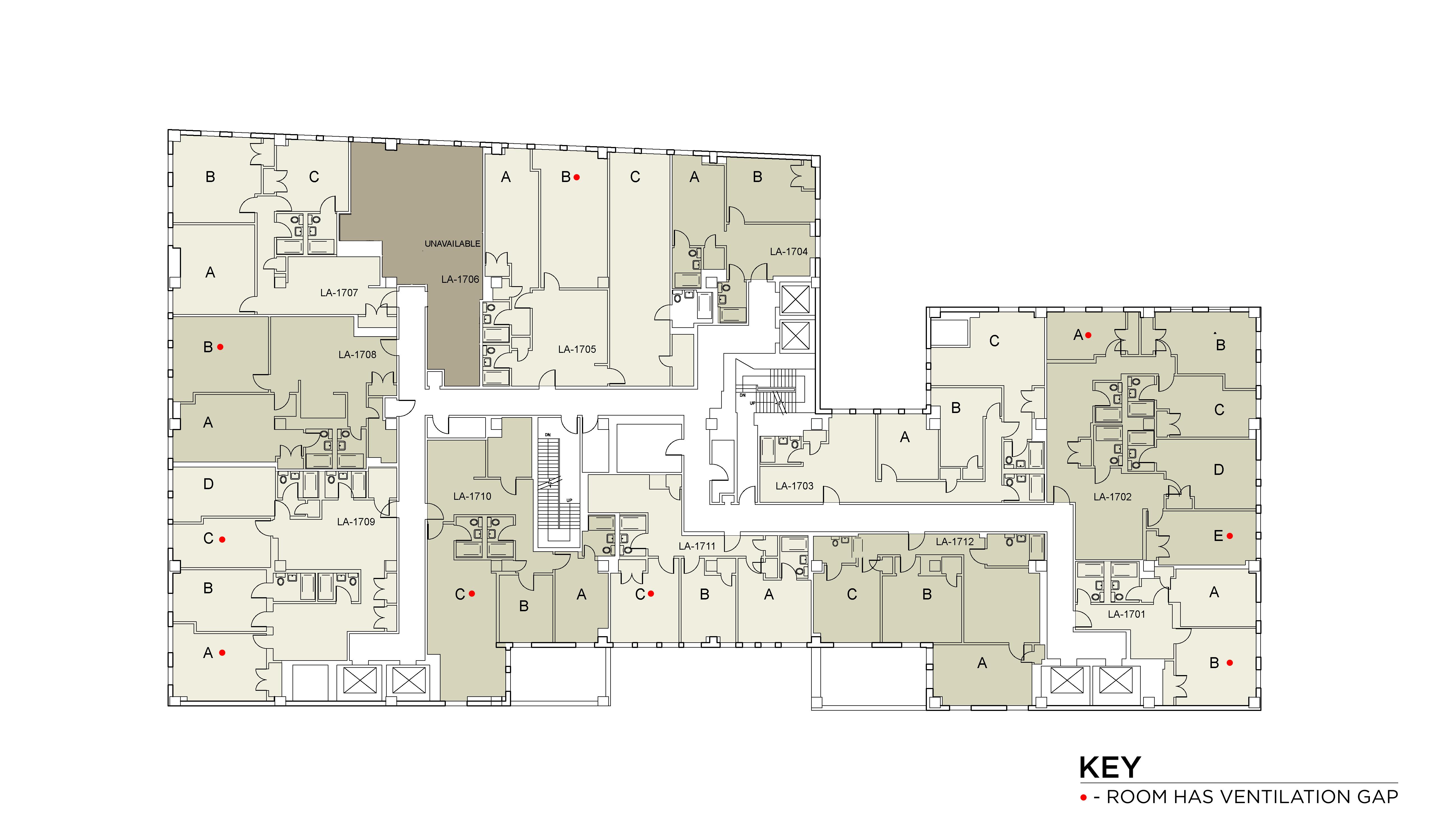 Floor plan for Lafayette Floor 17