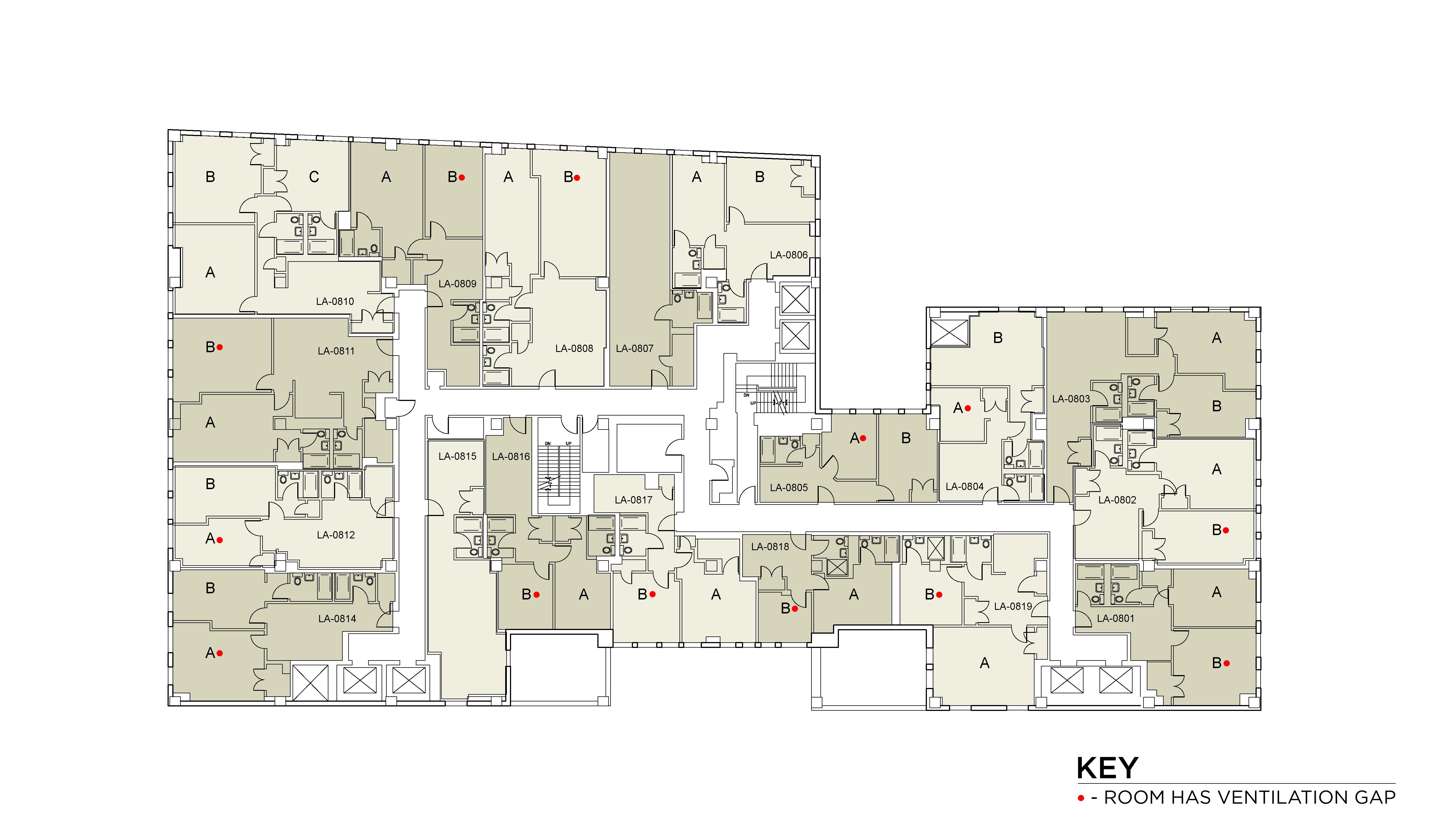 Floor plan for Lafayette Floor 08