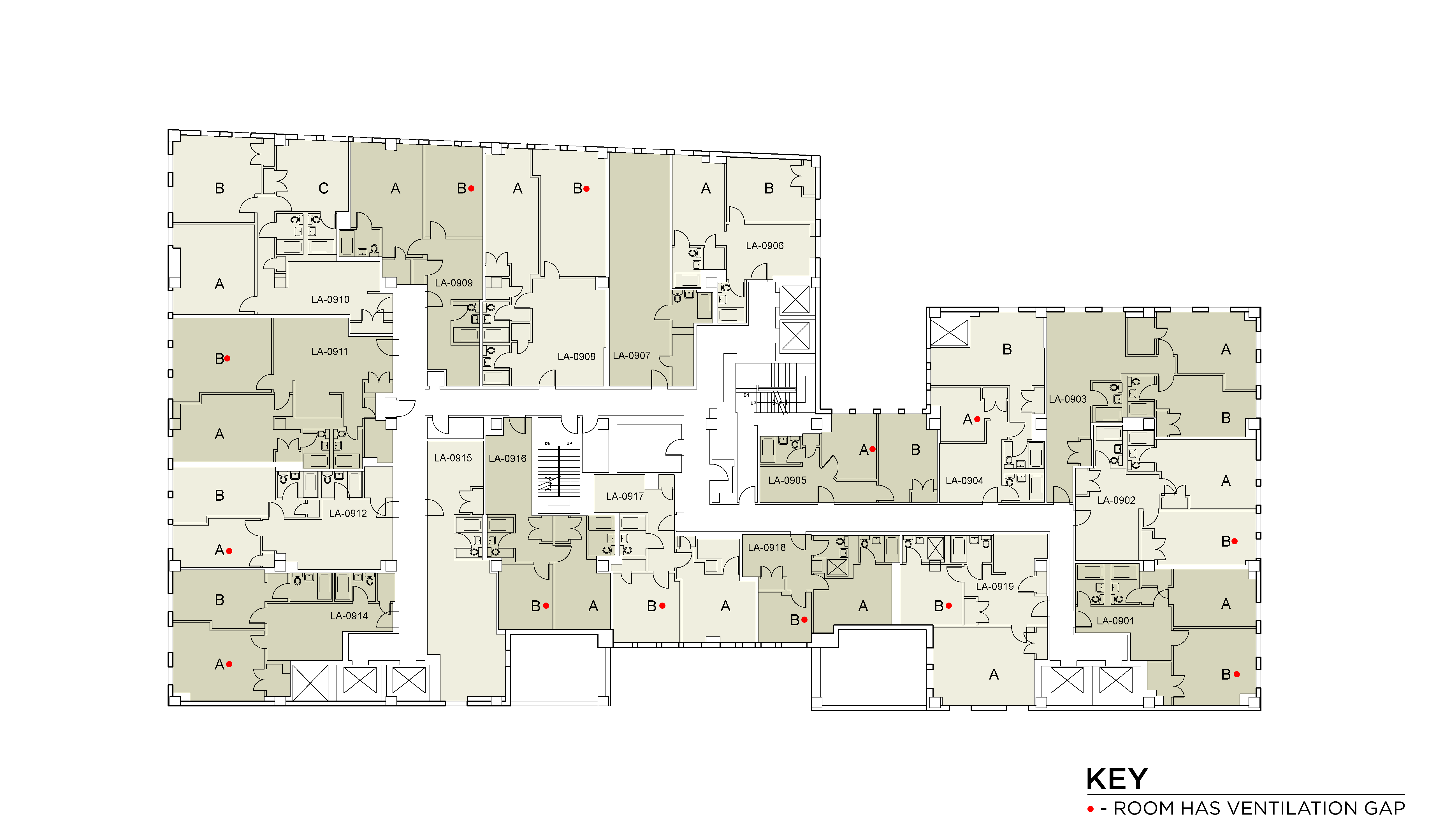 Floor plan for Lafayette Floor 09