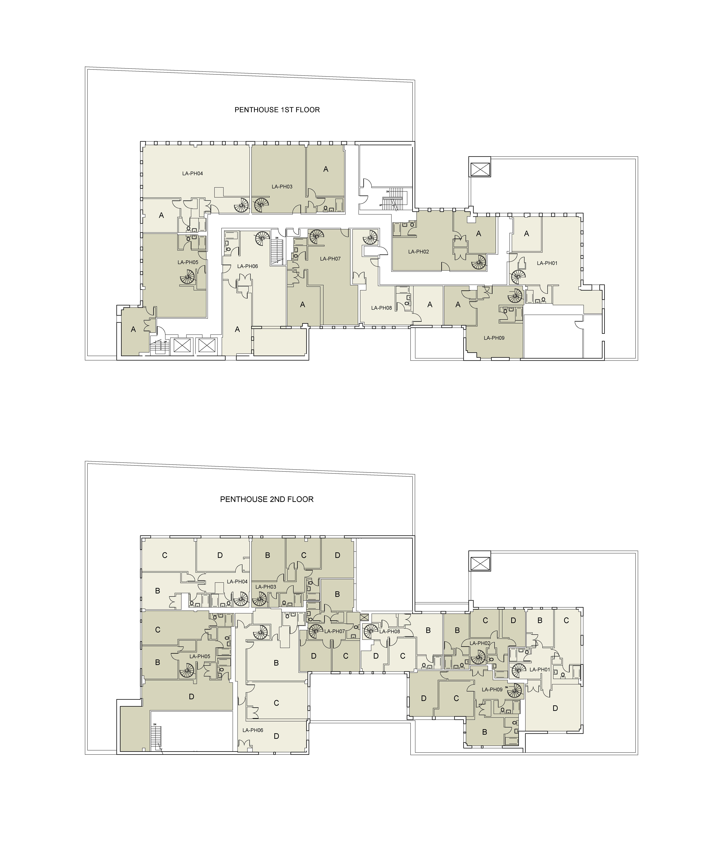 Floor plan for Lafayette Penthouse