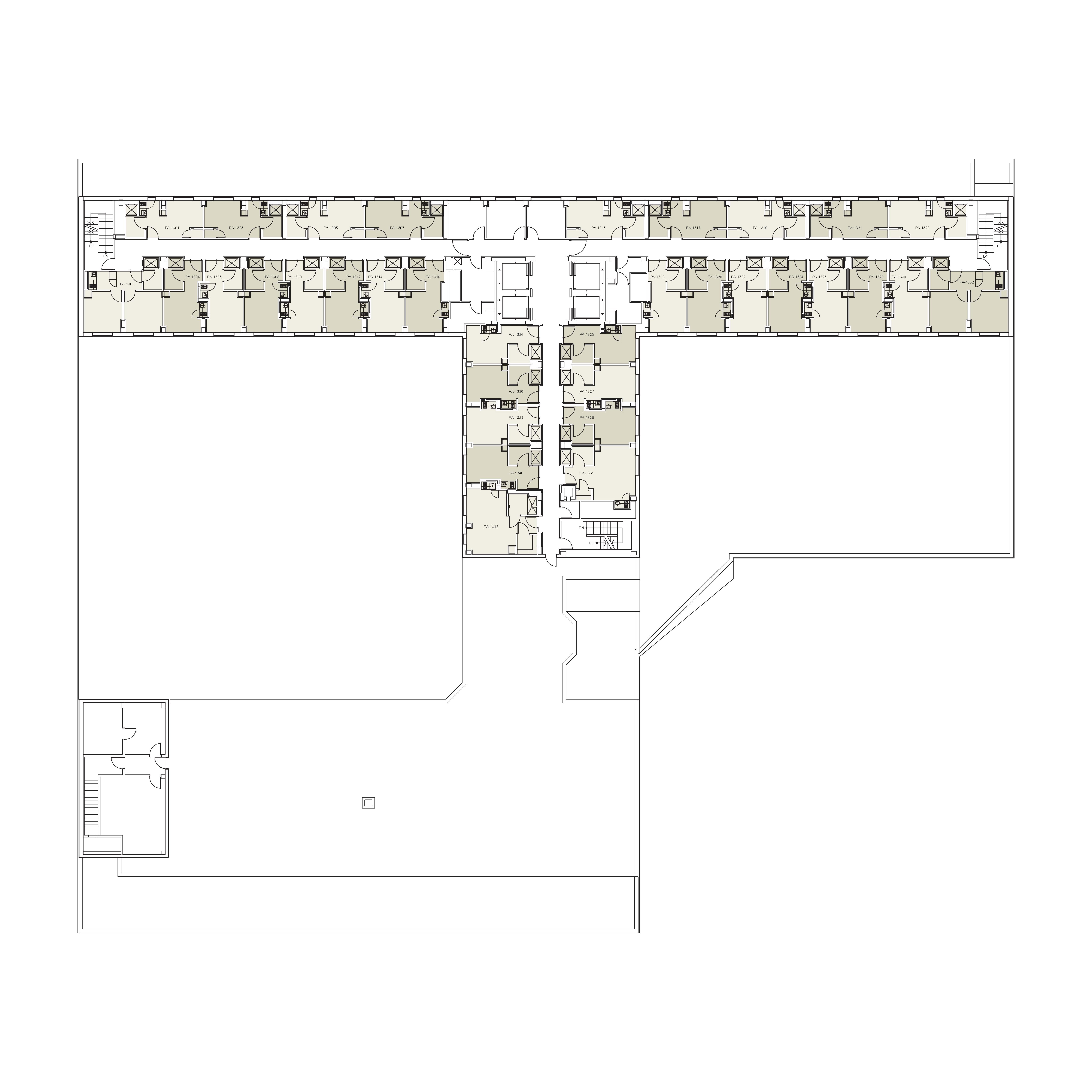 Floor plan for Palladium Floor 13