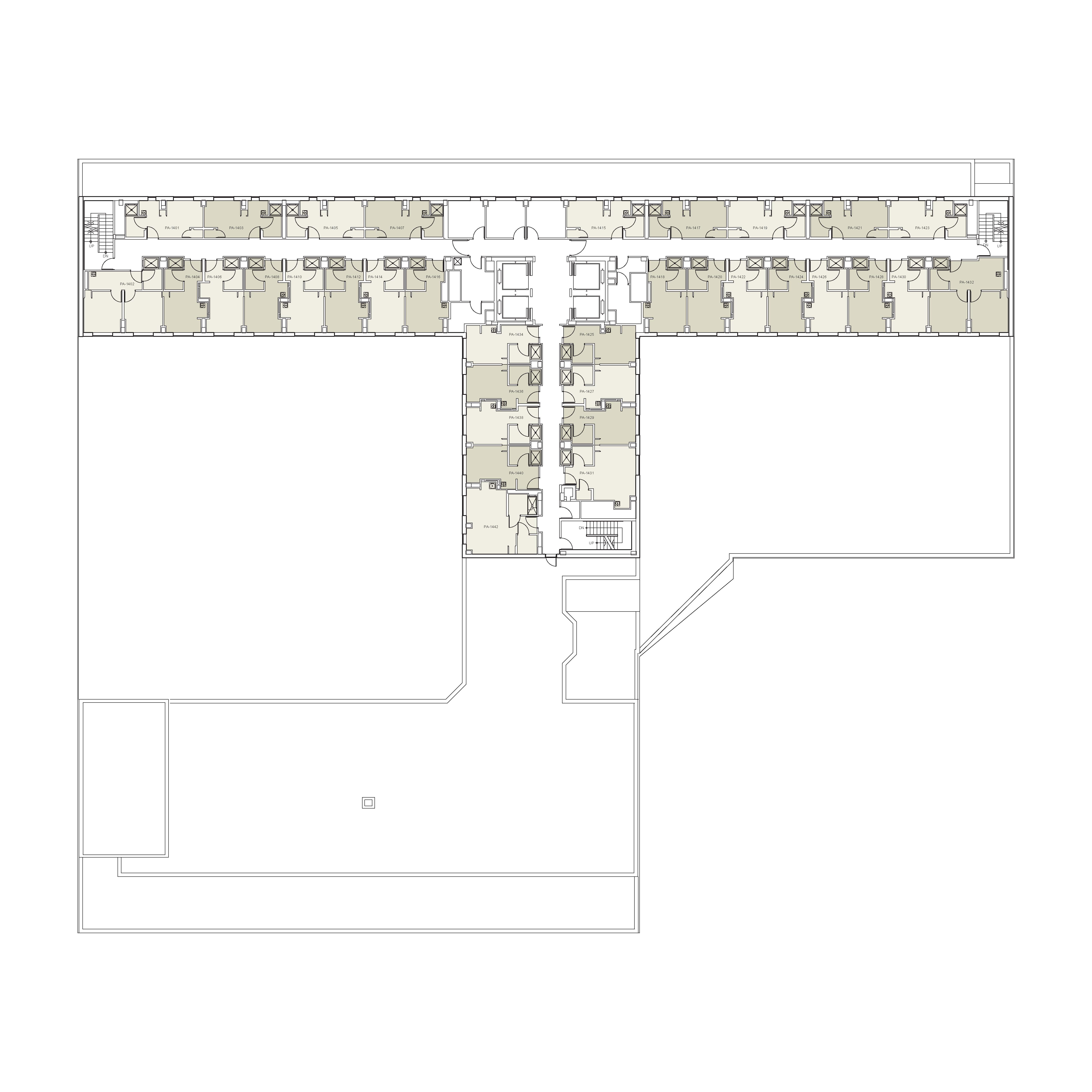 Floor plan for Palladium Floor 14