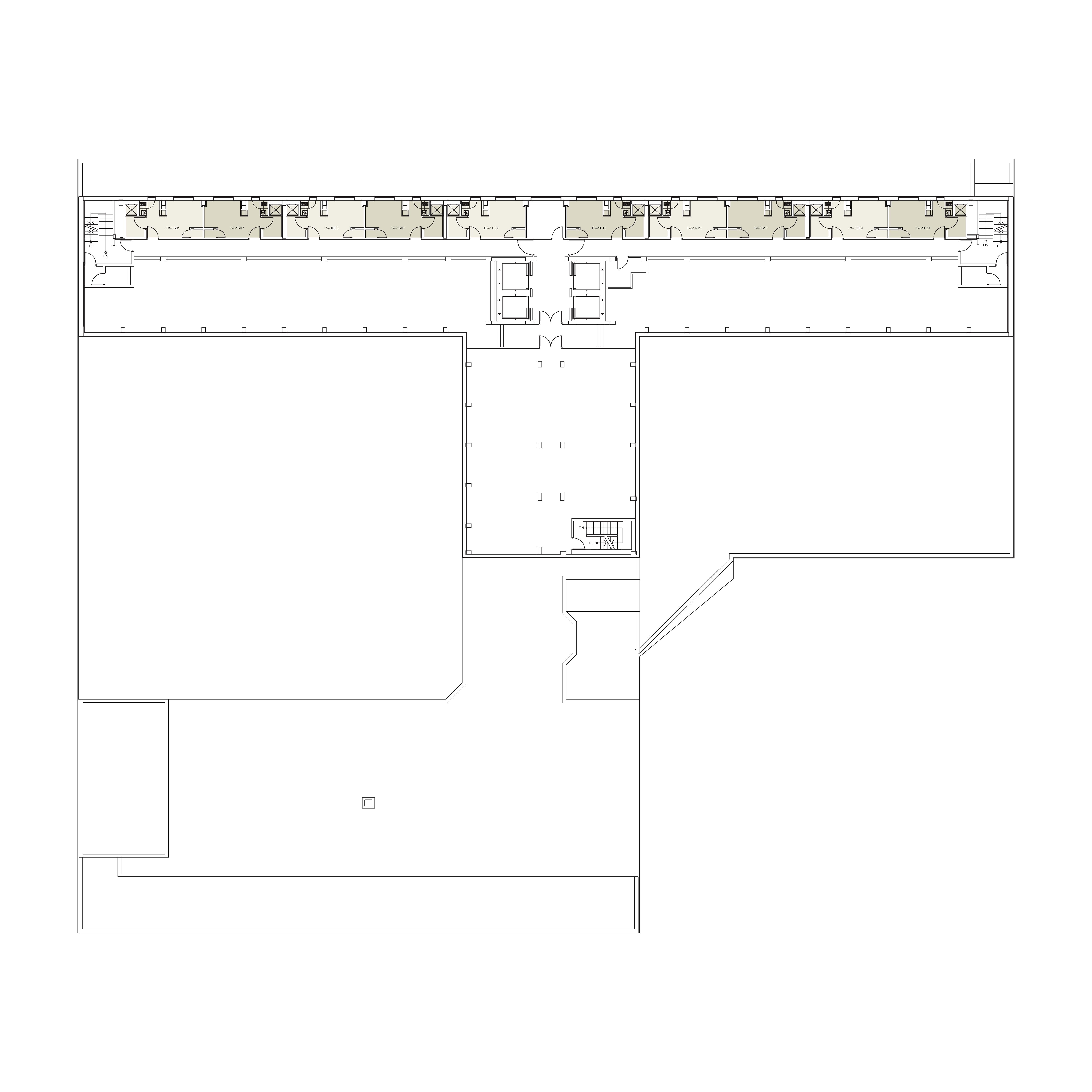 Floor plan for Palladium Floor 16