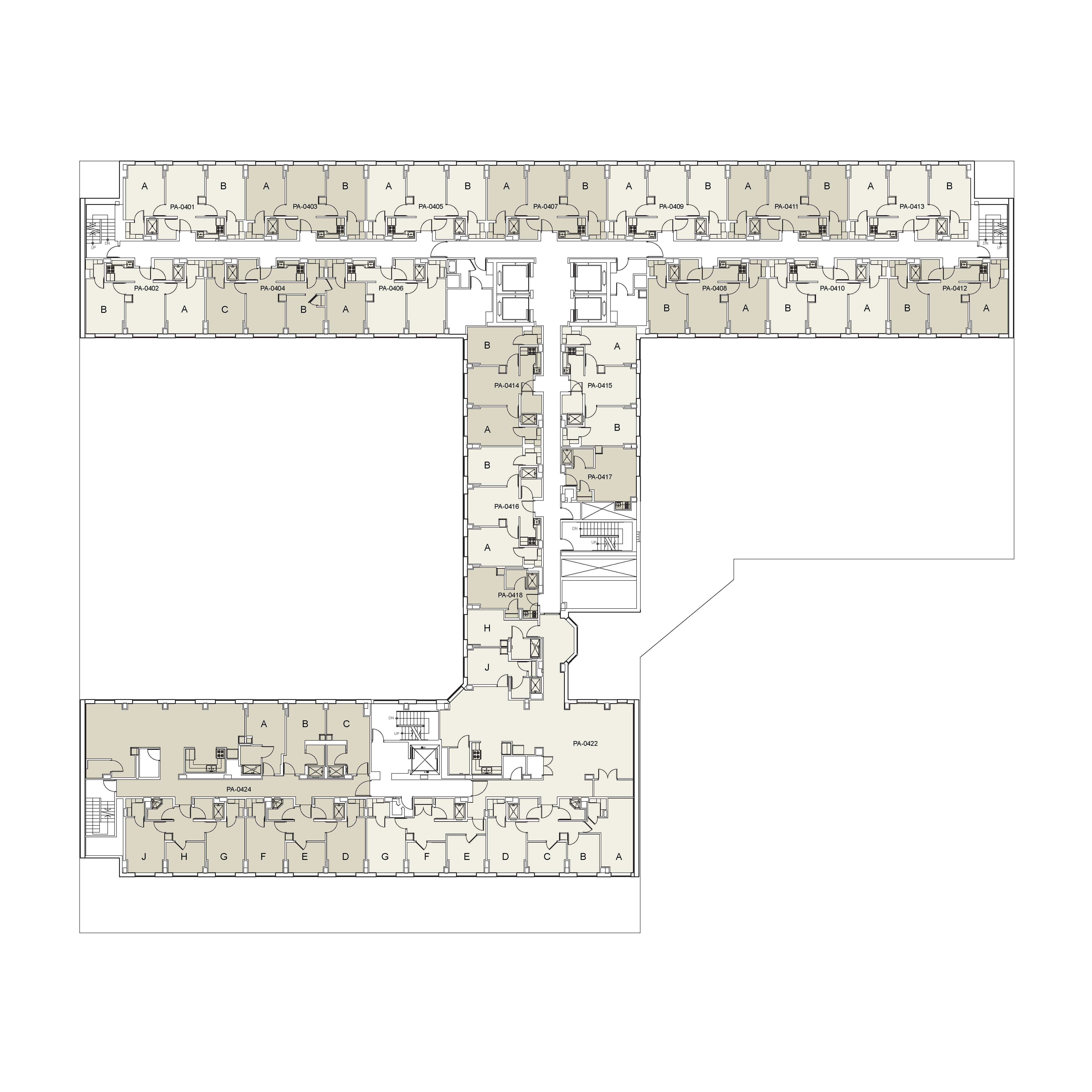 Floor plan for Palladium Floor 04