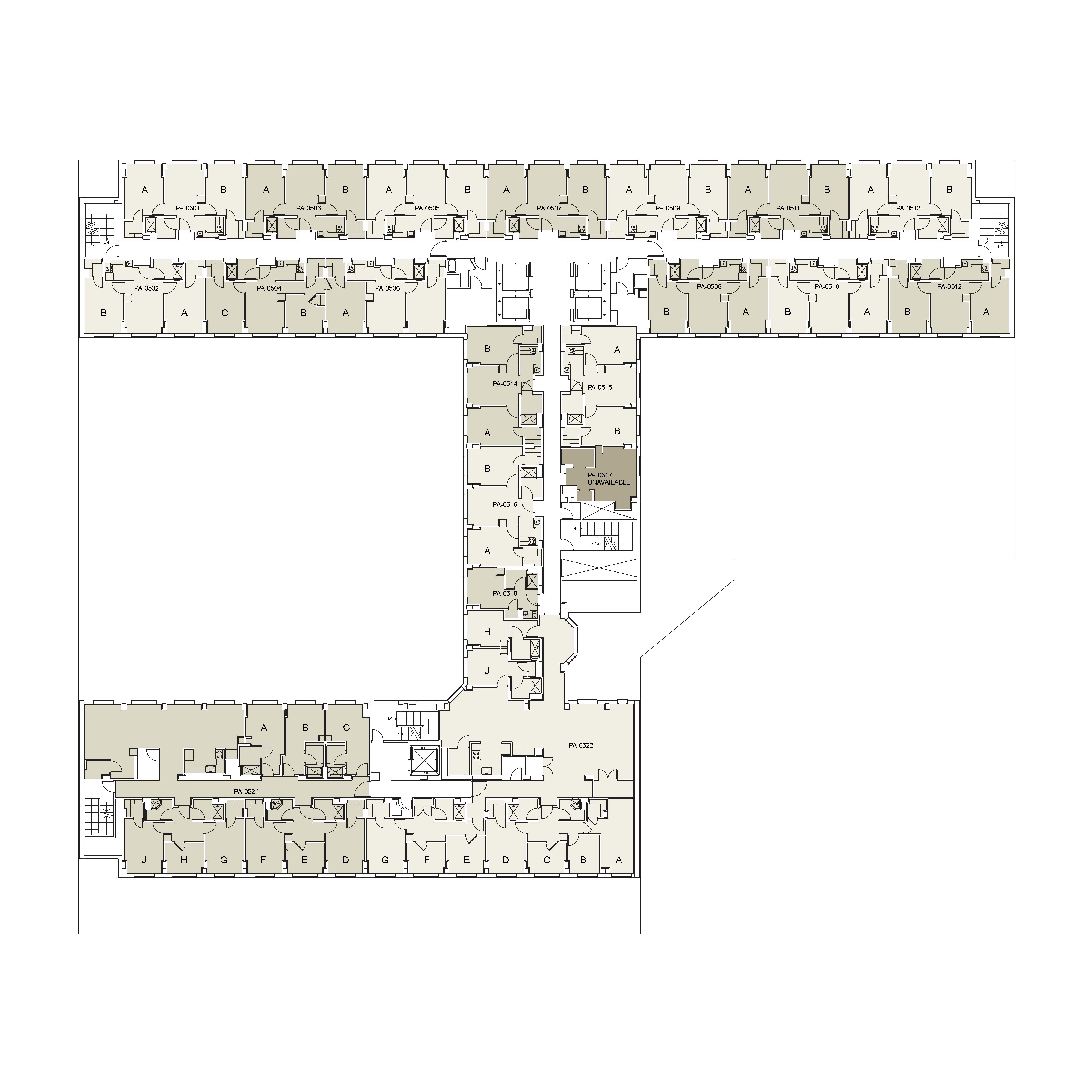 Floor plan for Palladium Floor 05