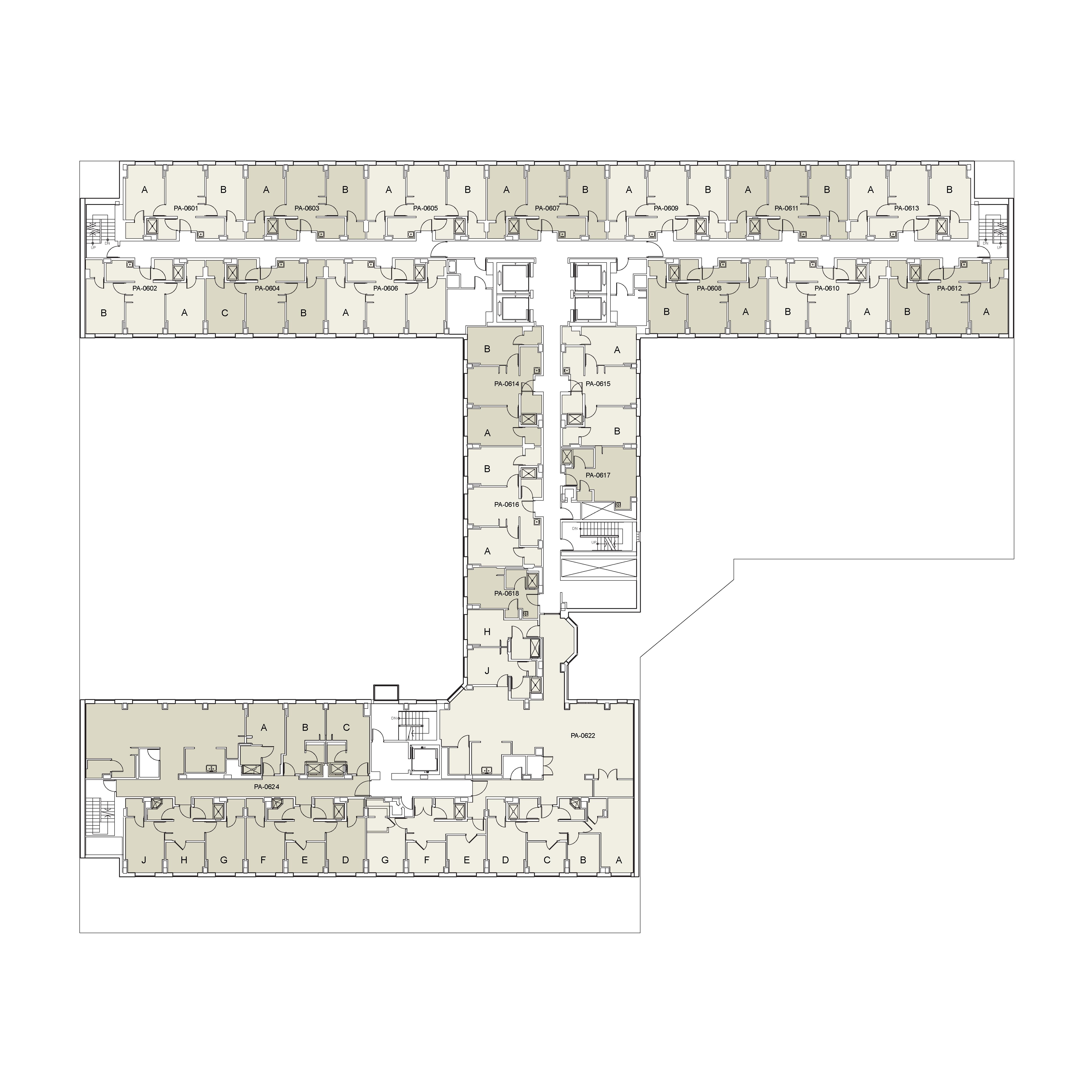 Floor plan for Palladium Floor 06
