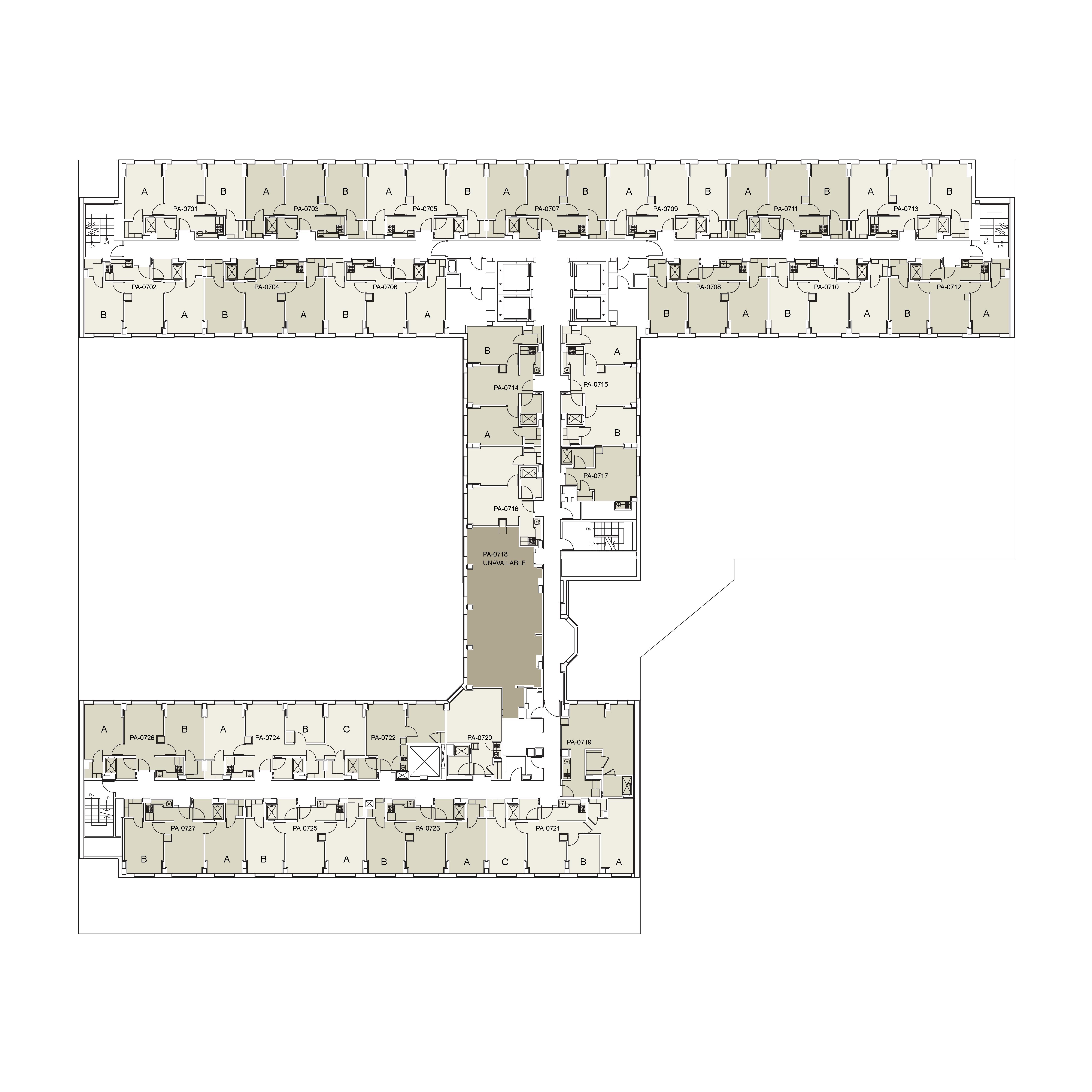 Floor plan for Palladium Floor 07