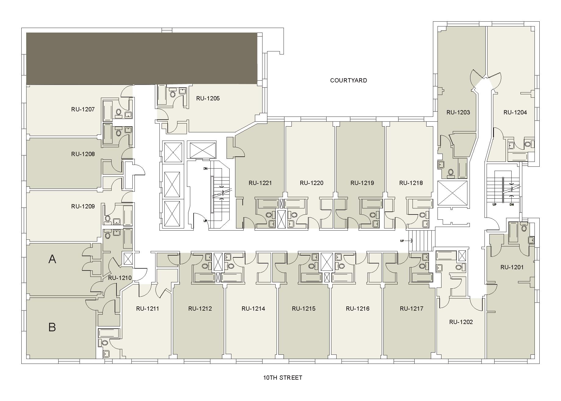 Floor plan for Rubin Floor 12