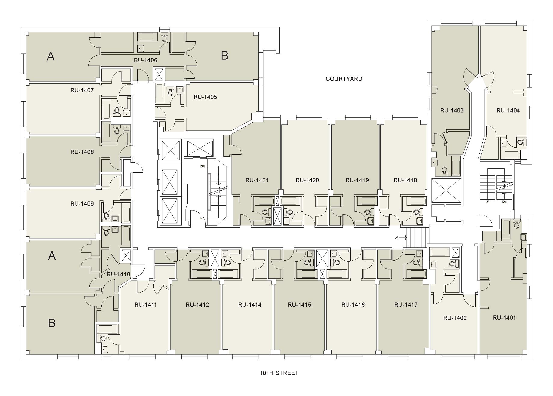 Floor plan for Rubin Floor 14