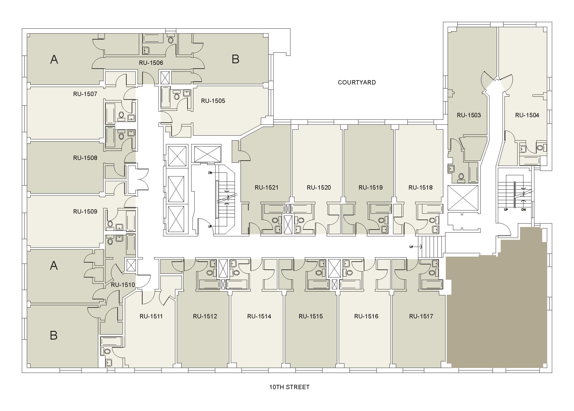 Floor plan for Rubin Floor 15