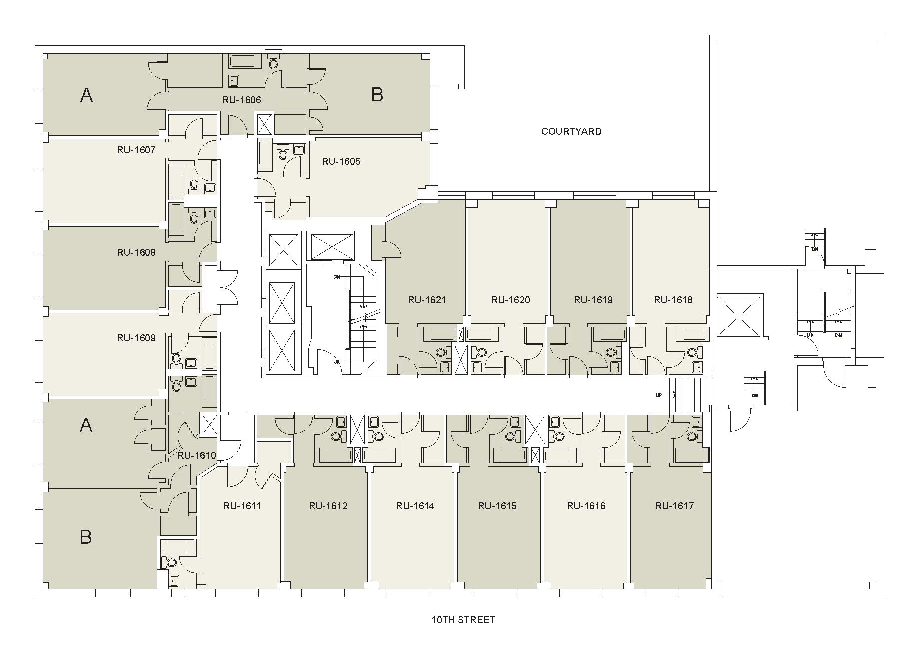 Floor plan for Rubin Floor 16