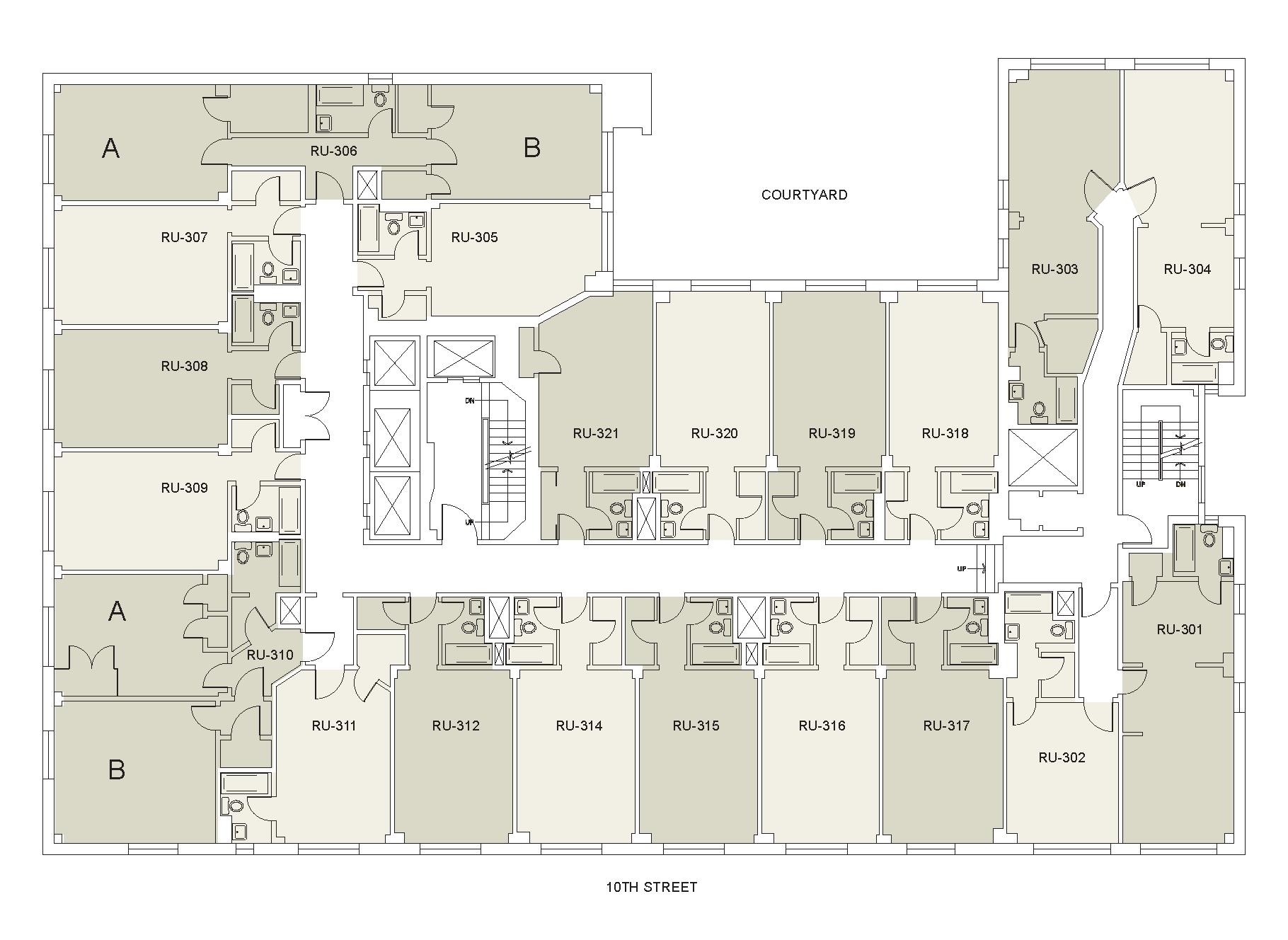 Floor plan for Rubin Floor 03