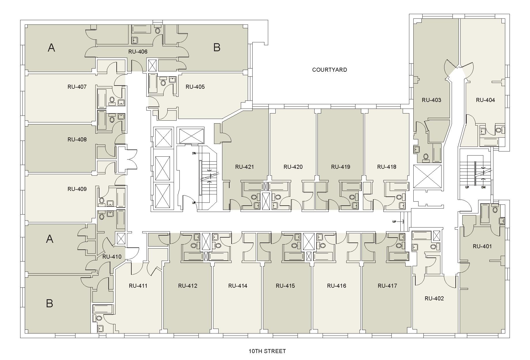 Floor plan for Rubin Floor 04