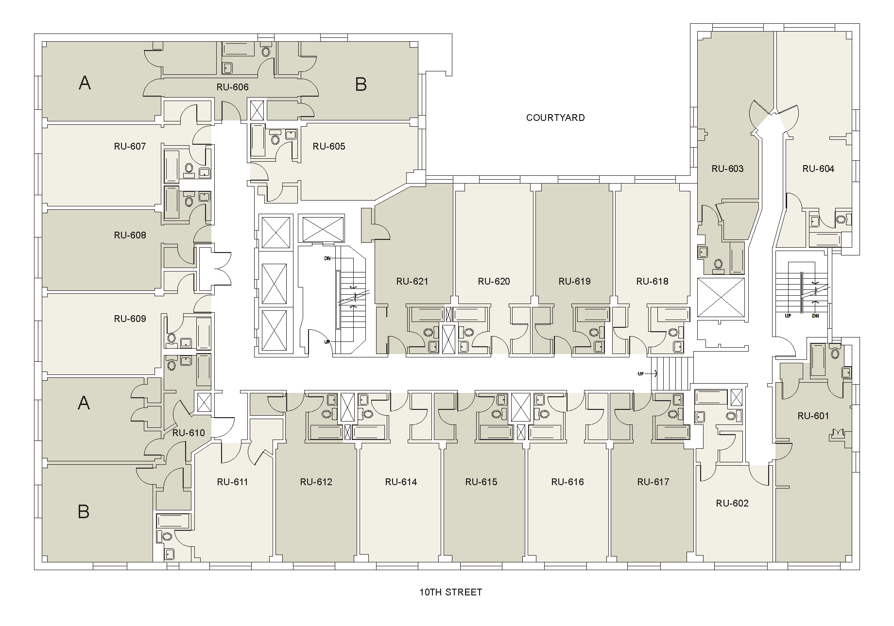 Floor plan for Rubin Floor 06