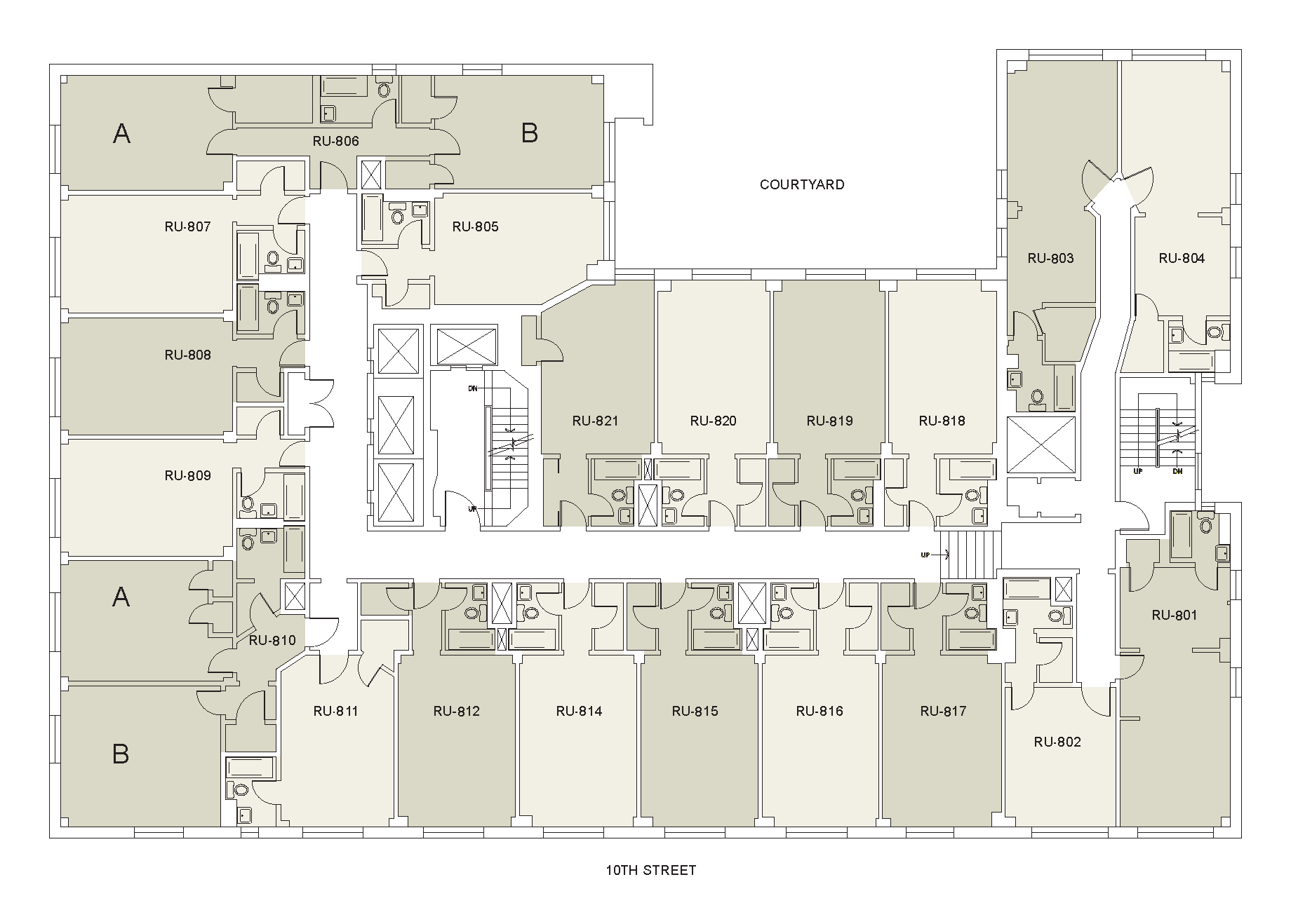 Floor plan for Rubin Floor 08