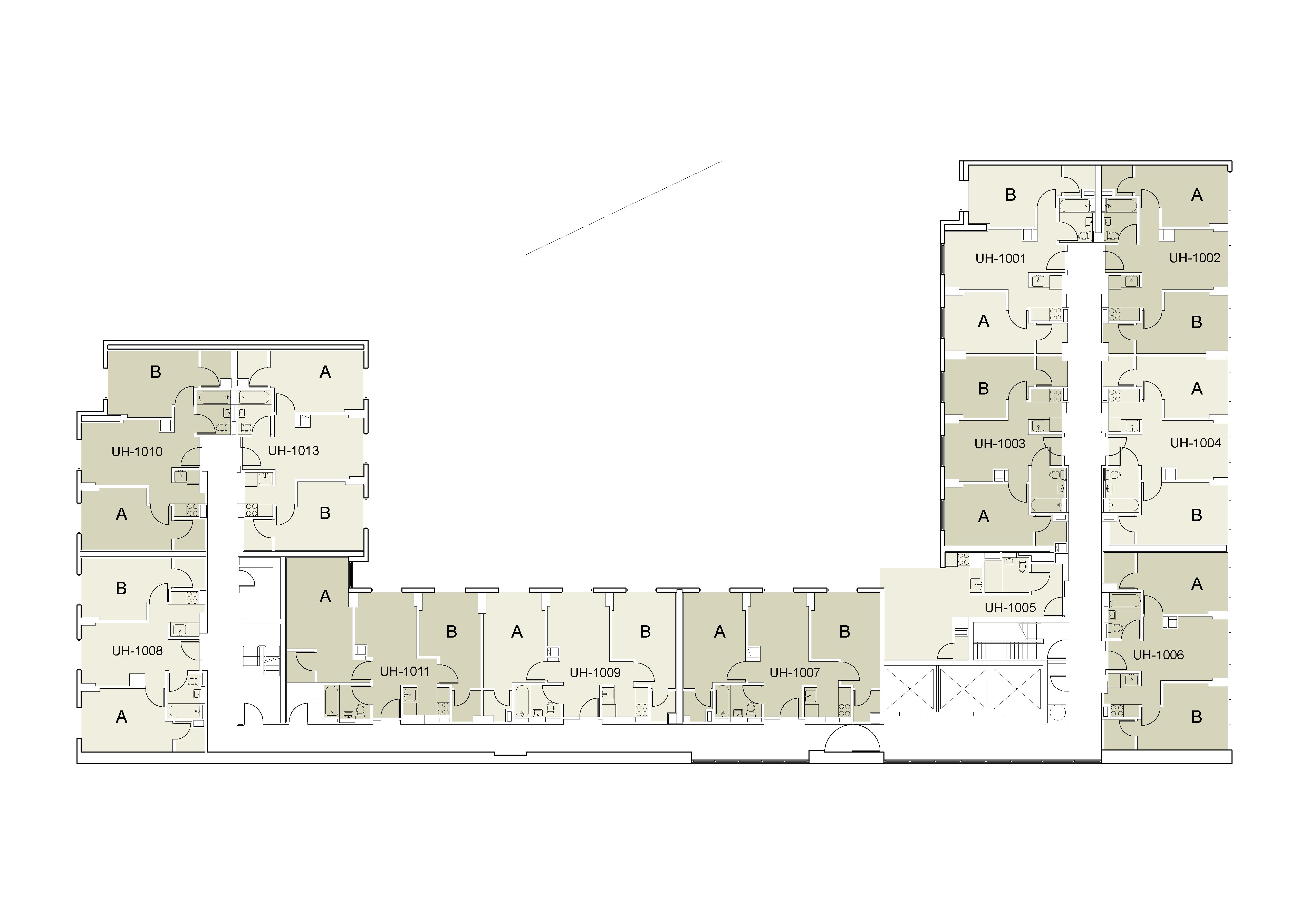 Floor plan for U Hall Floor 10