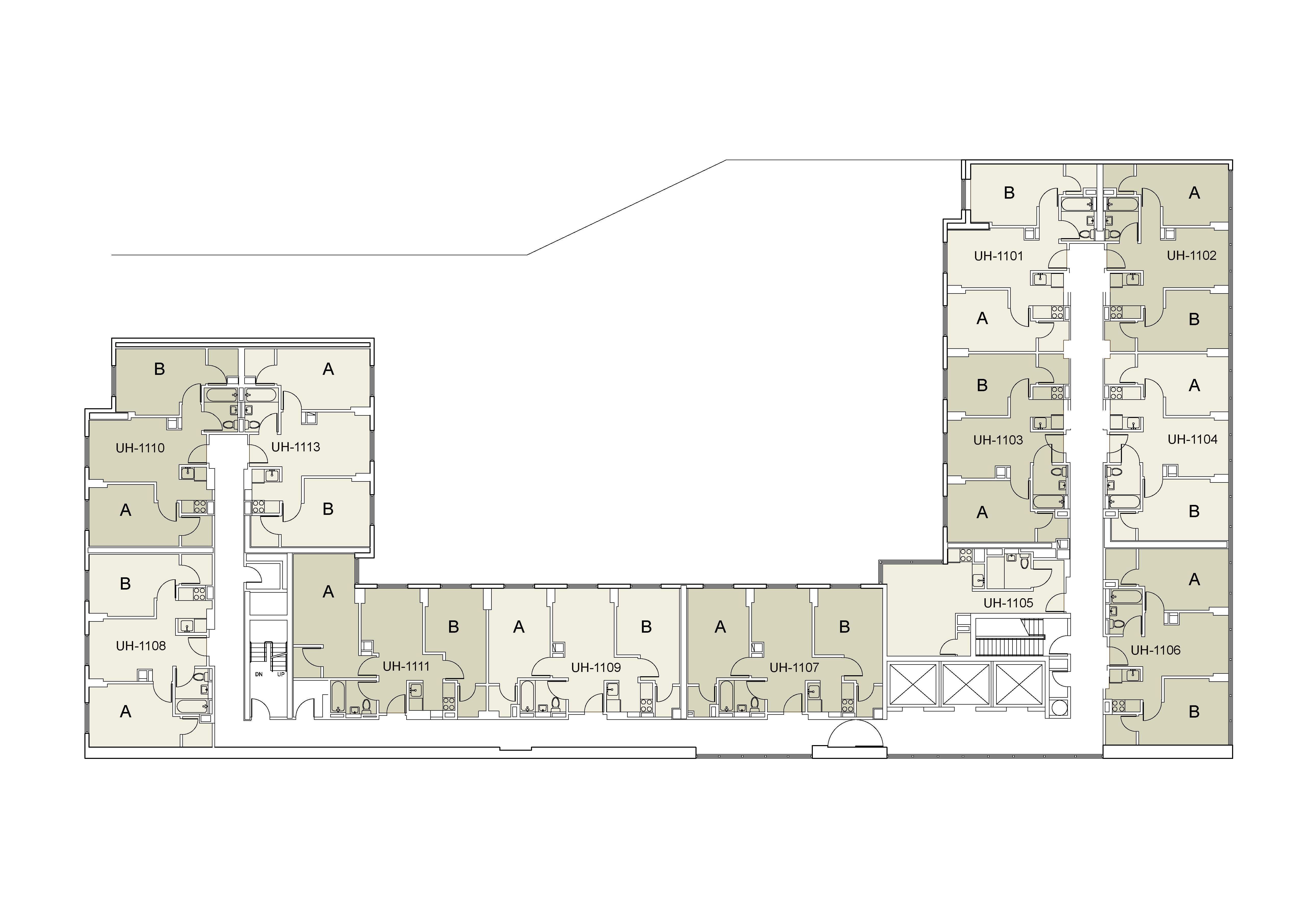 Floor plan for U Hall Floor 11