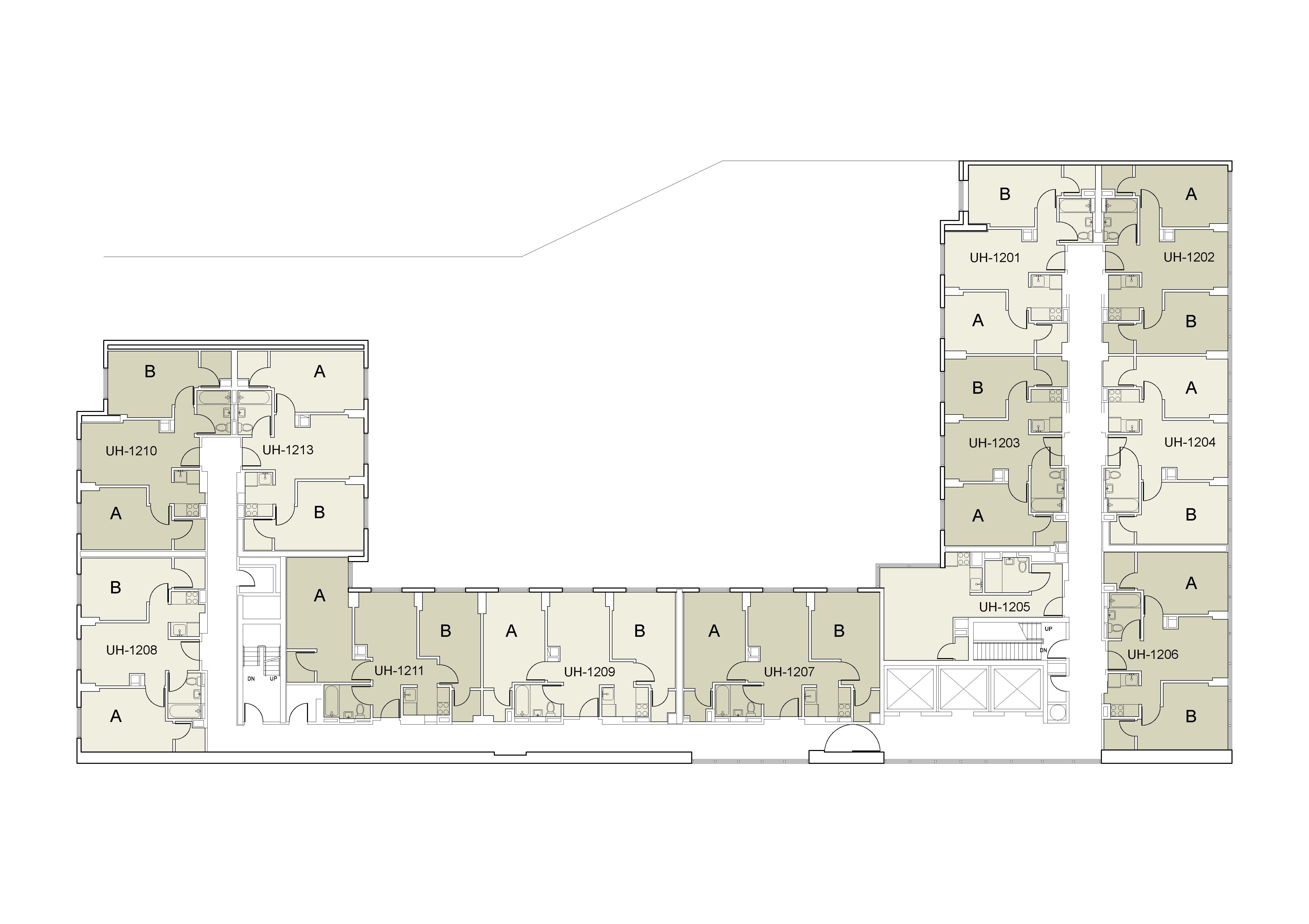 Floor plan for U Hall Floor 12