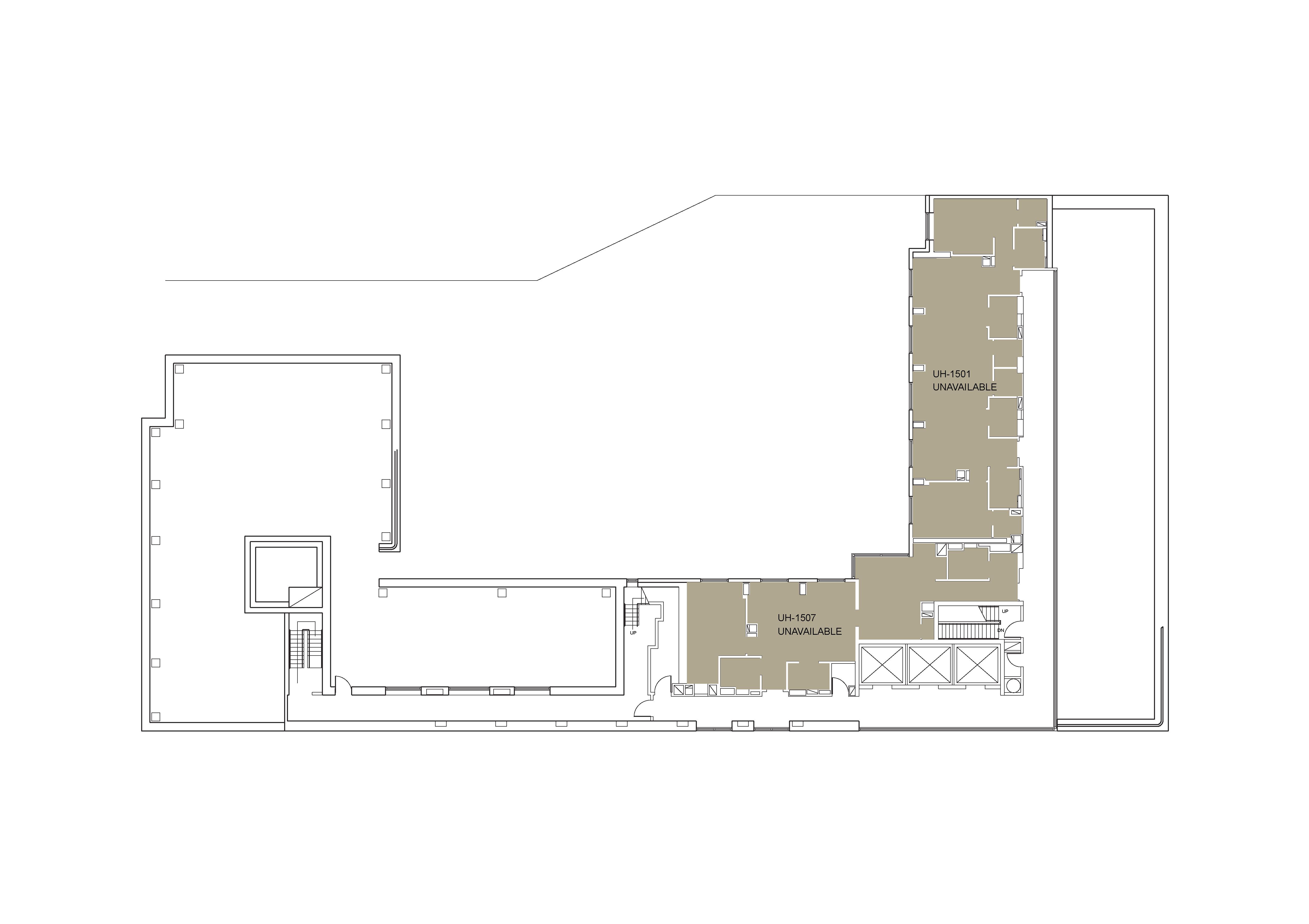 Floor plan for U Hall Floor 15