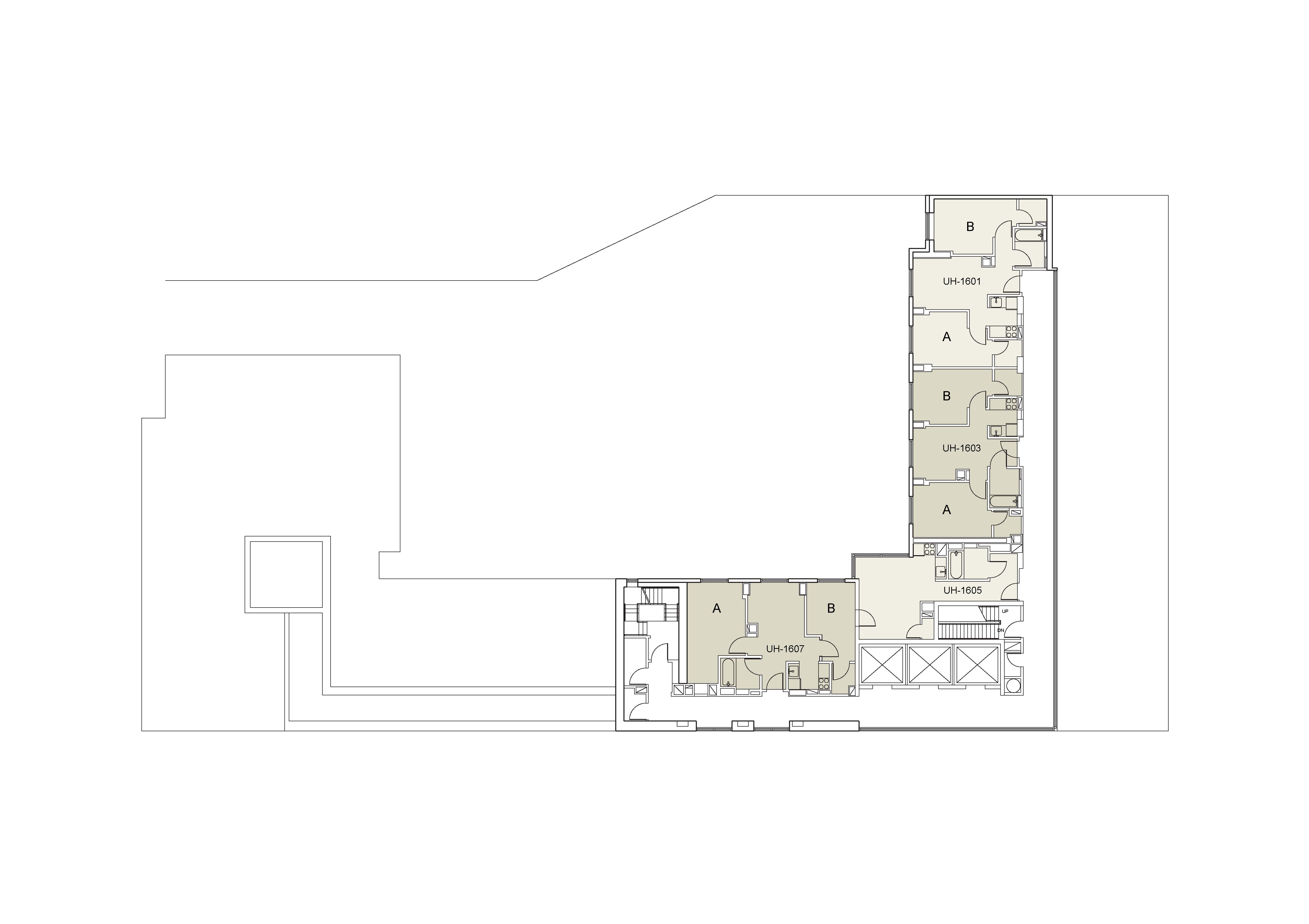 Floor plan for U Hall Floor 16
