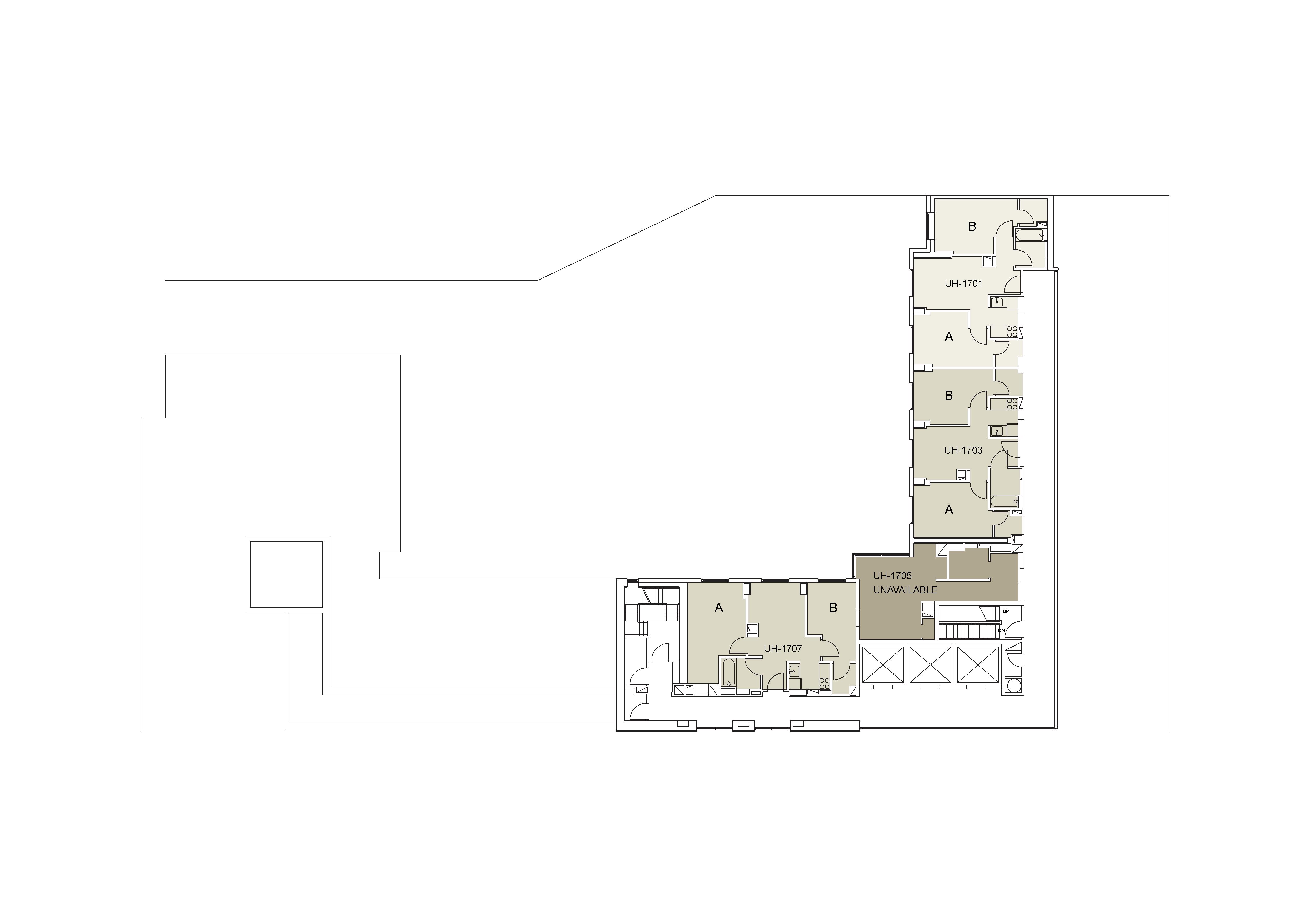 Floor plan for U Hall Floor 17