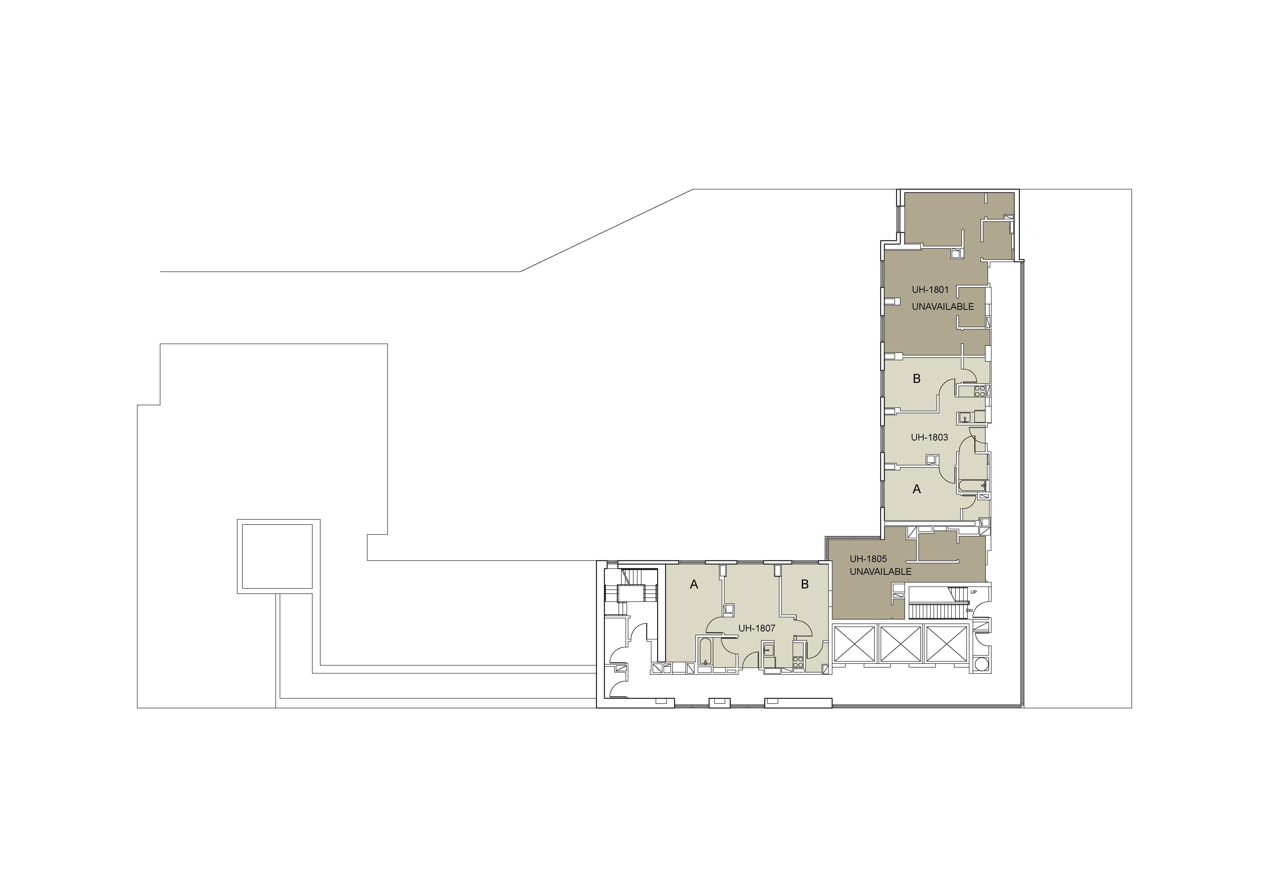 Floor plan for U Hall Floor 18