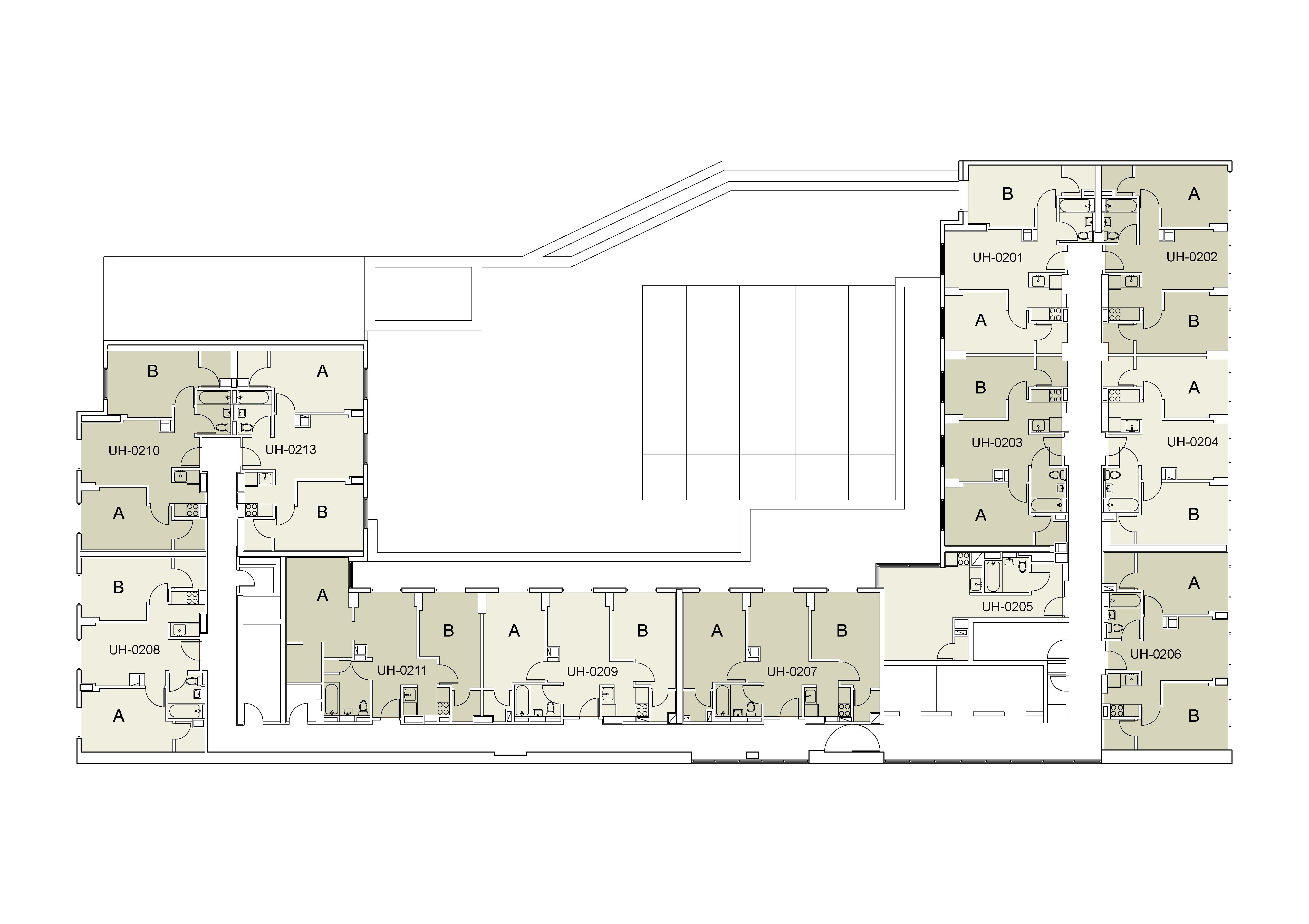 Floor plan for U Hall Floor 02